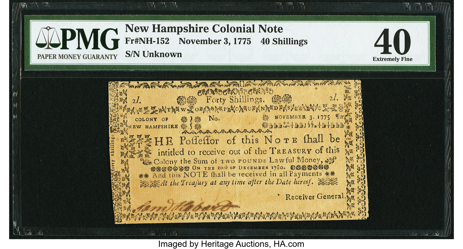 sample image for 1775 3-Nov 40s (Fr.# NH152)