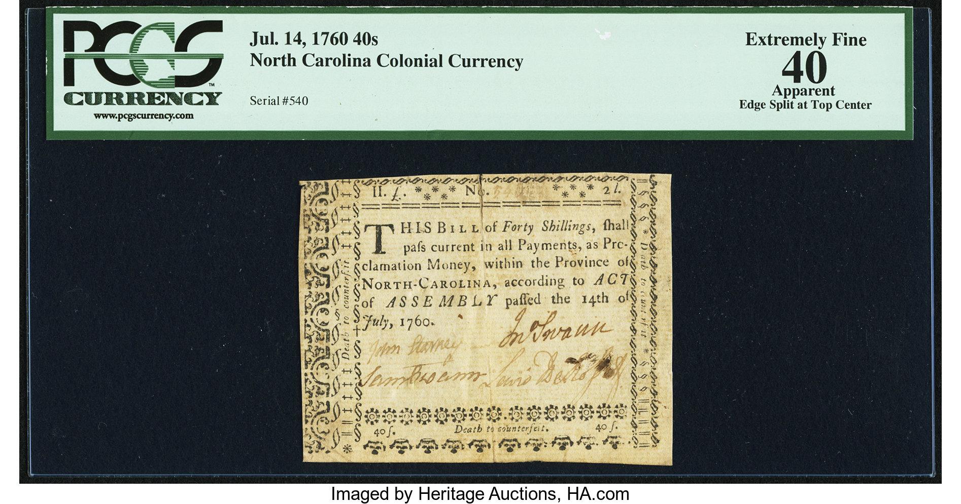 sample image for 1760 14-Jul 40s (Fr.# NC111)