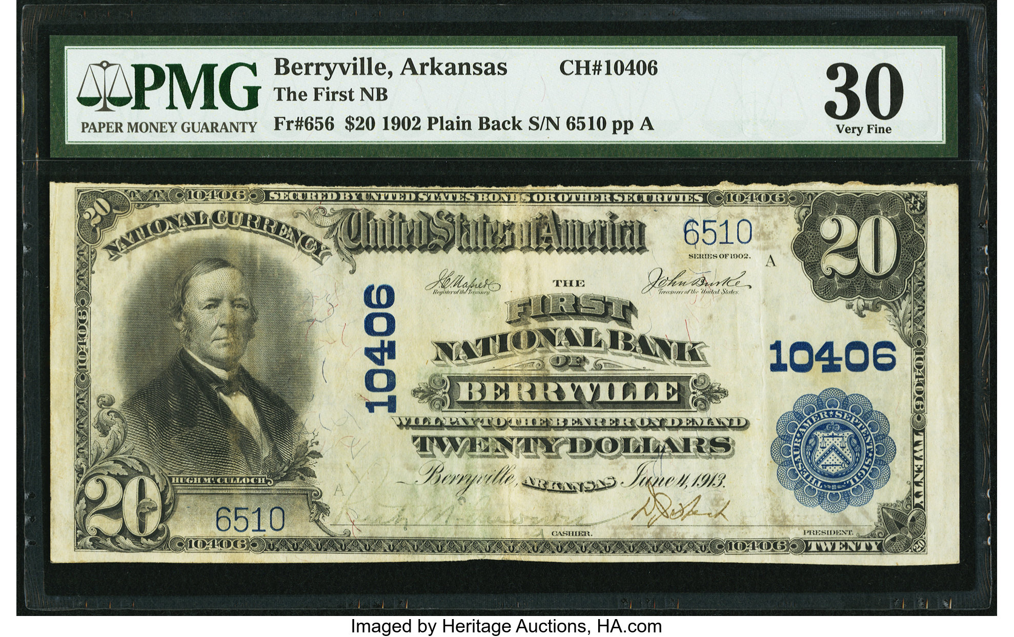 sample image for 1902 3rd Charter Period $20  Plain Back 3rd Issue (Fr.# 656)