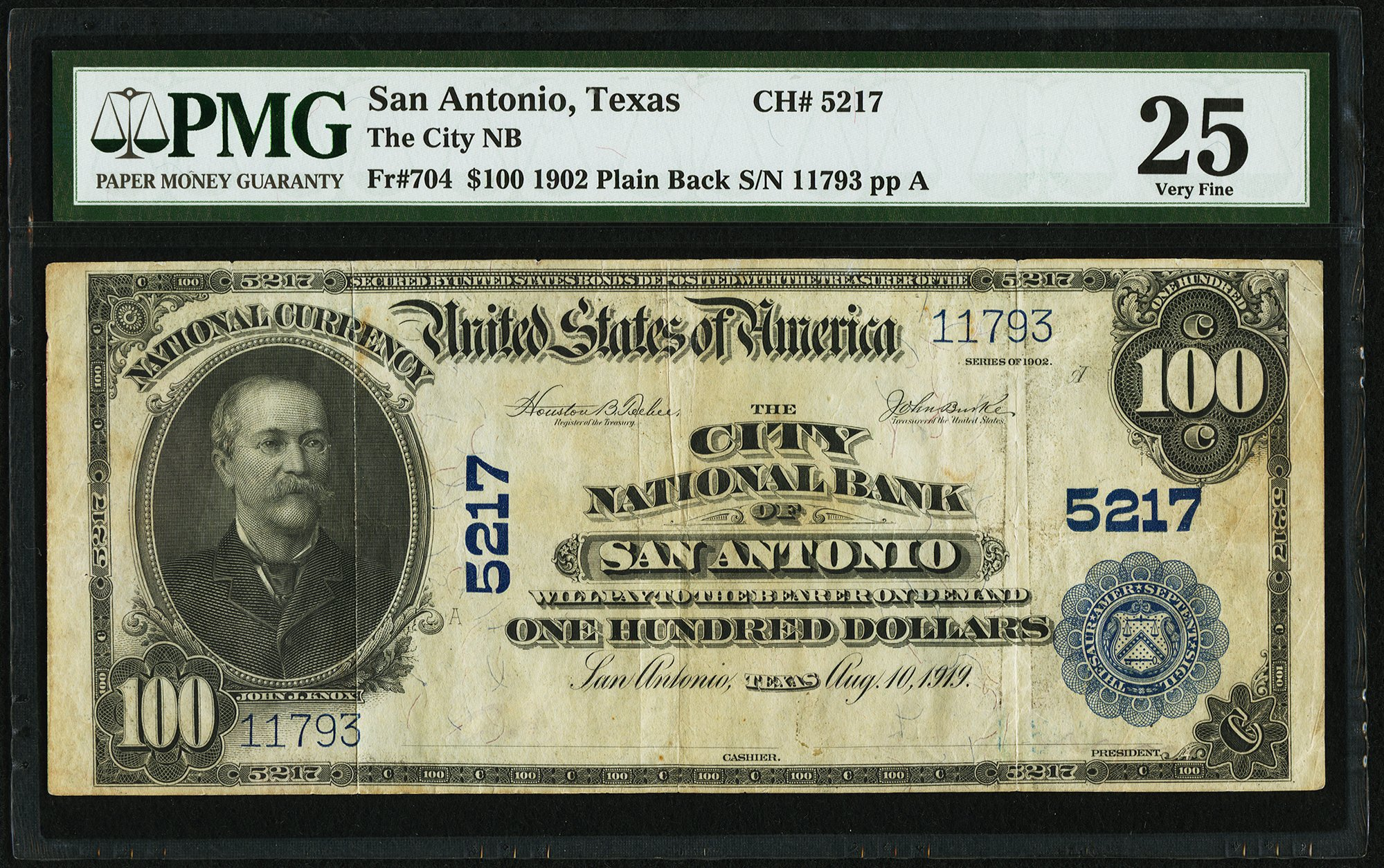 sample image for 1902 3rd Charter Period $100  Plain Back 3rd Issue (Fr.# 704)