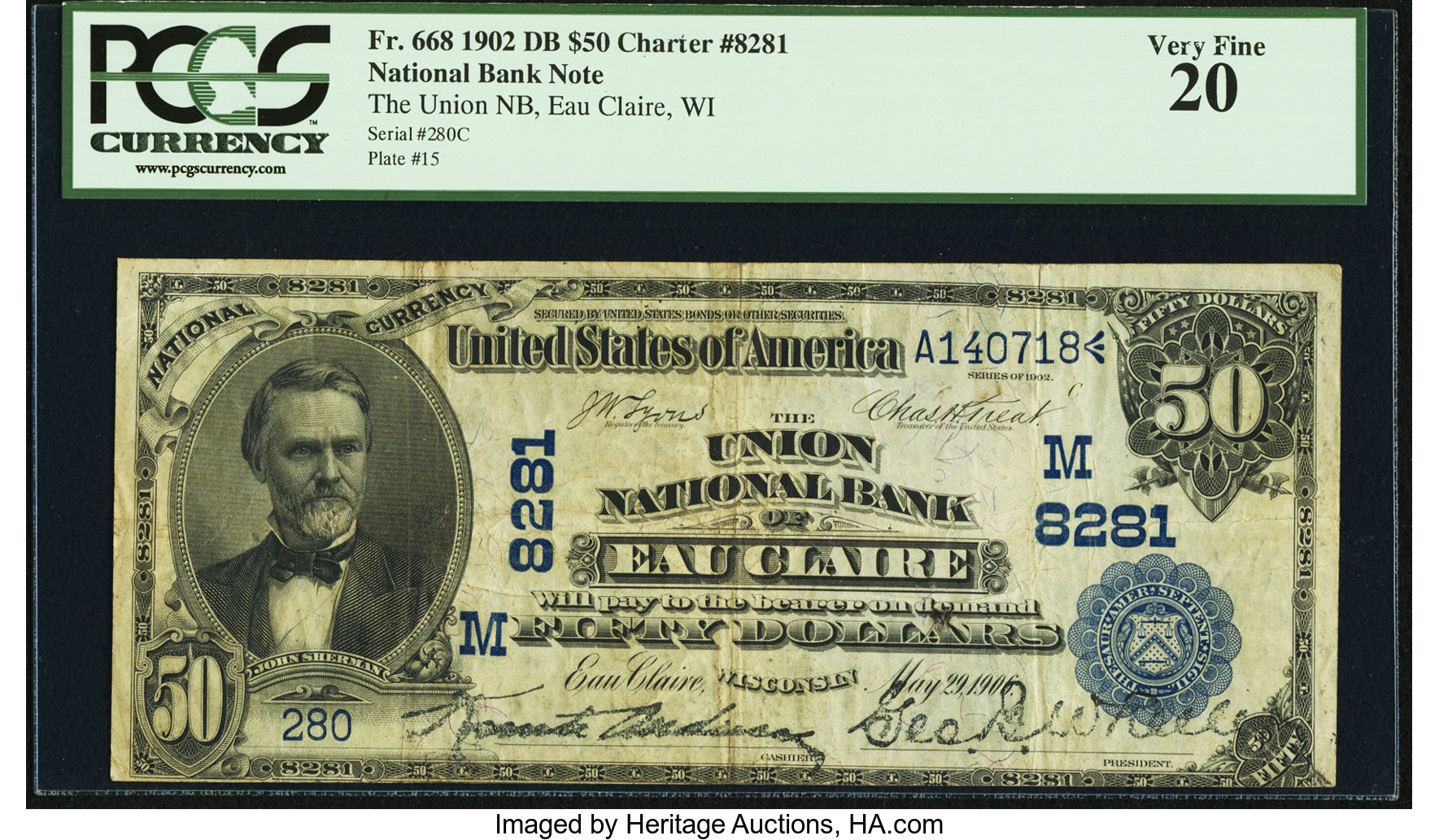 sample image for 1902 3rd Charter Period $50  Date Back 2nd Issue (Fr.# 668)