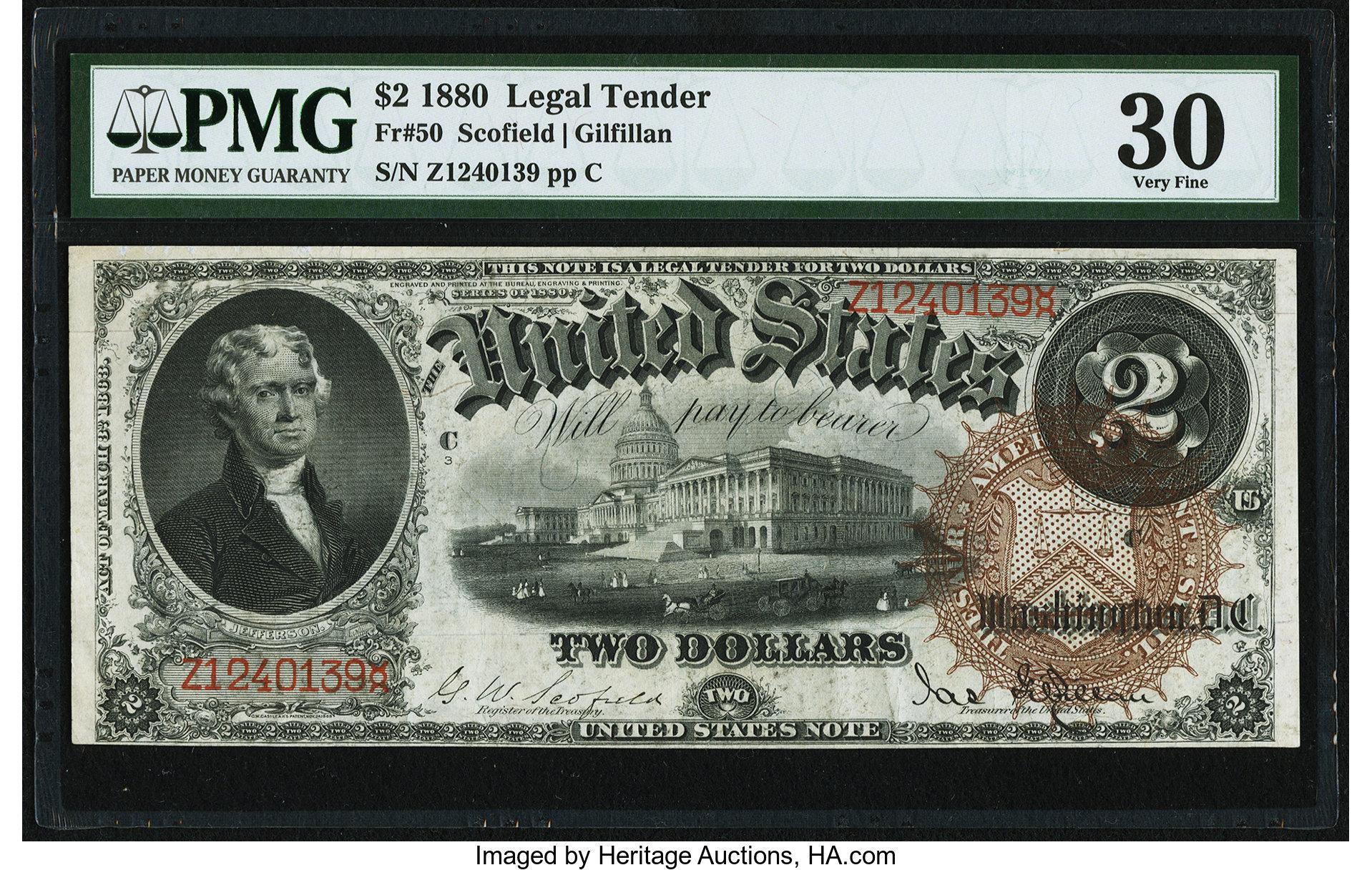 sample image for 1880 $2  (Fr.# 50)