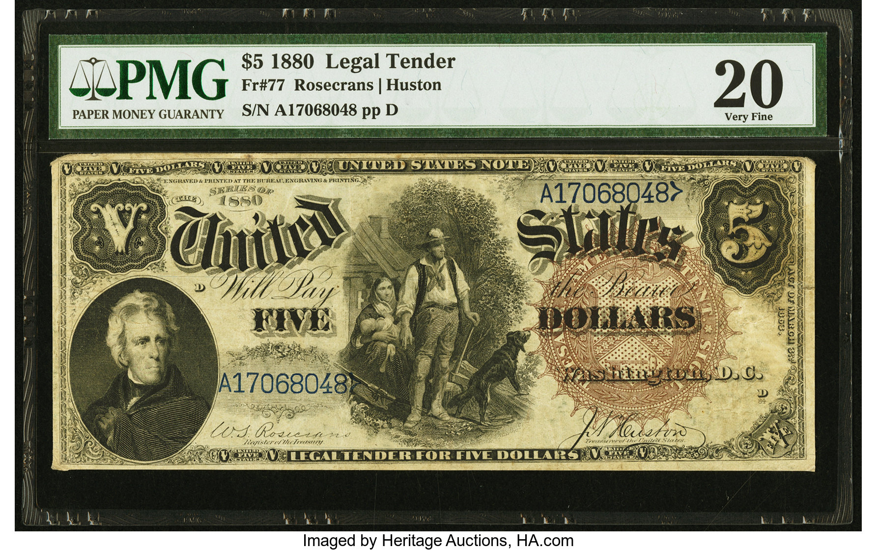 sample image for 1880 $5  (Fr.# 77)