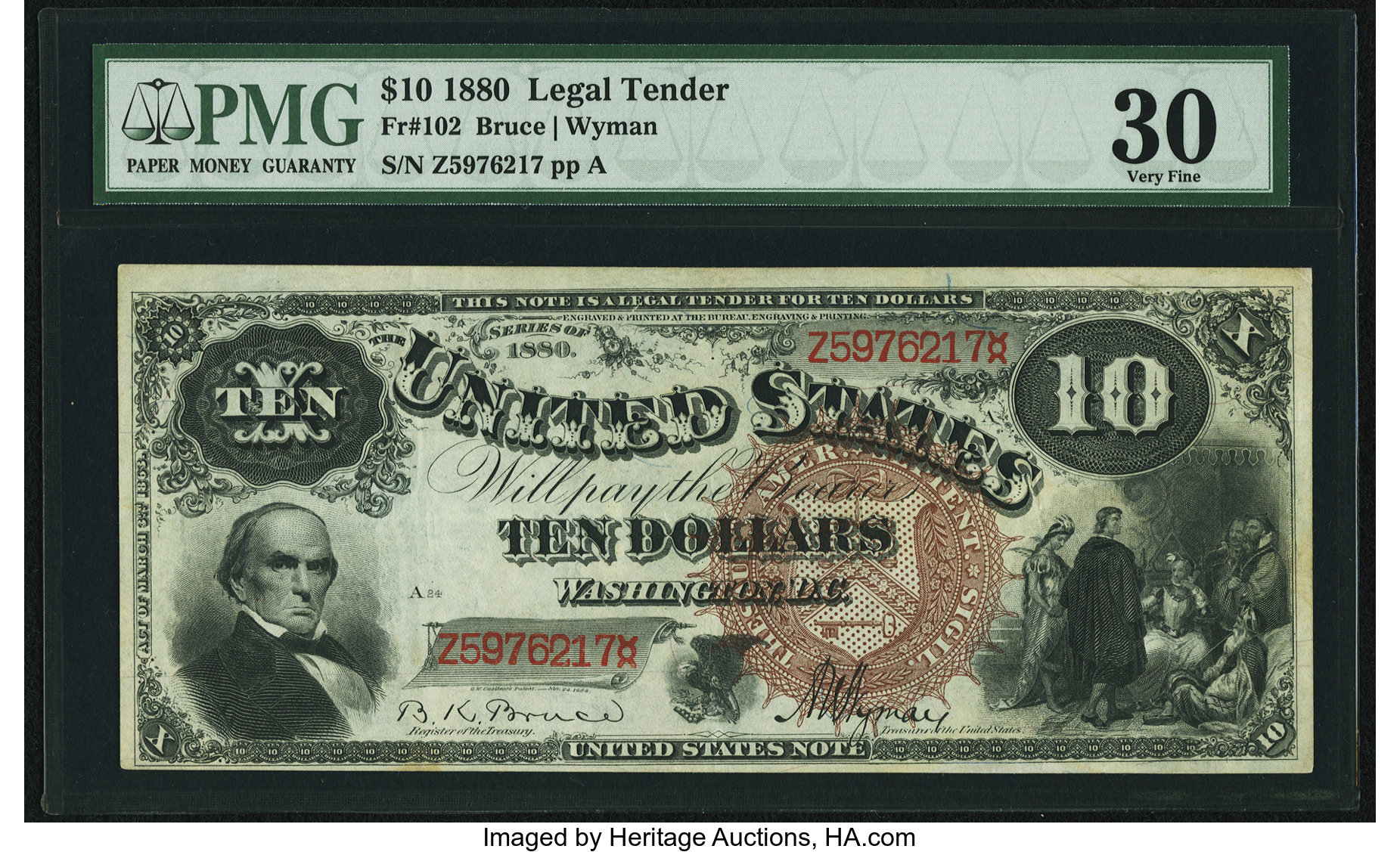 sample image for 1880 $10  (Fr.# 102)