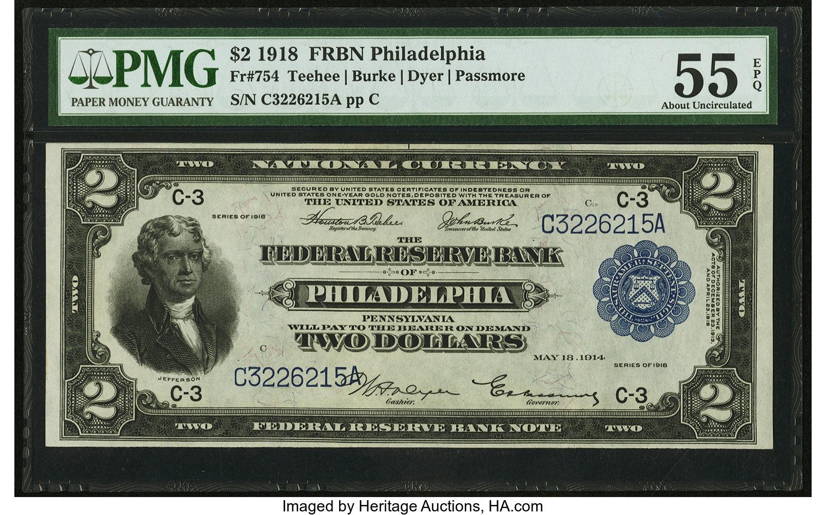 sample image for 1918 $2  Philadelphia (Fr.# 754)