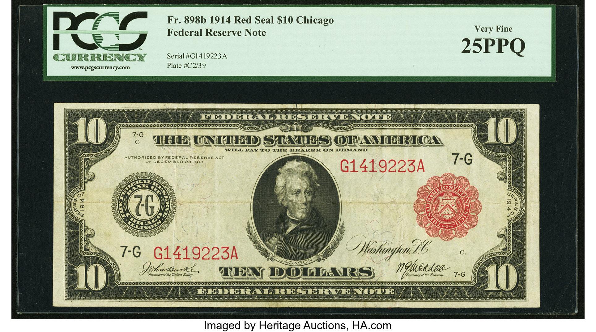 sample image for Fr.898B $10 Chicago RS