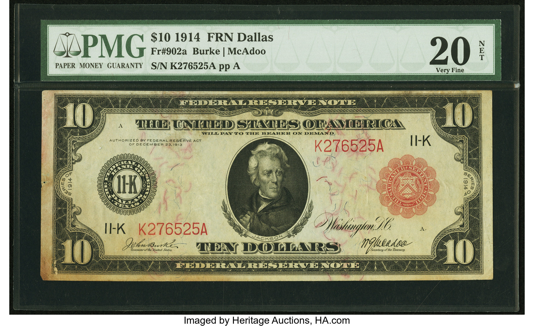 sample image for Fr.902A $10 Dallas RS