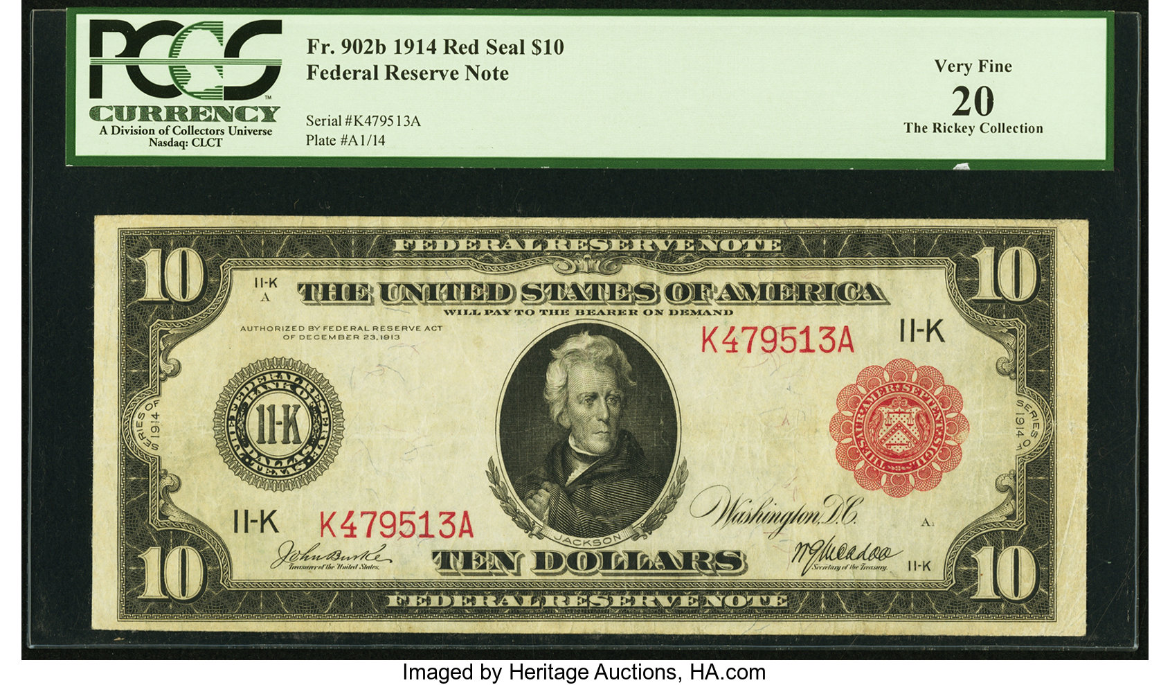 sample image for Fr.902B $10 Dallas RS