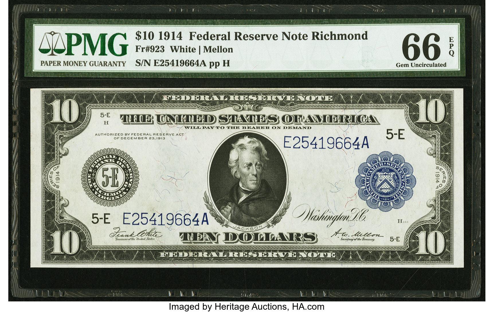 sample image for Fr.923 $10 Richmond
