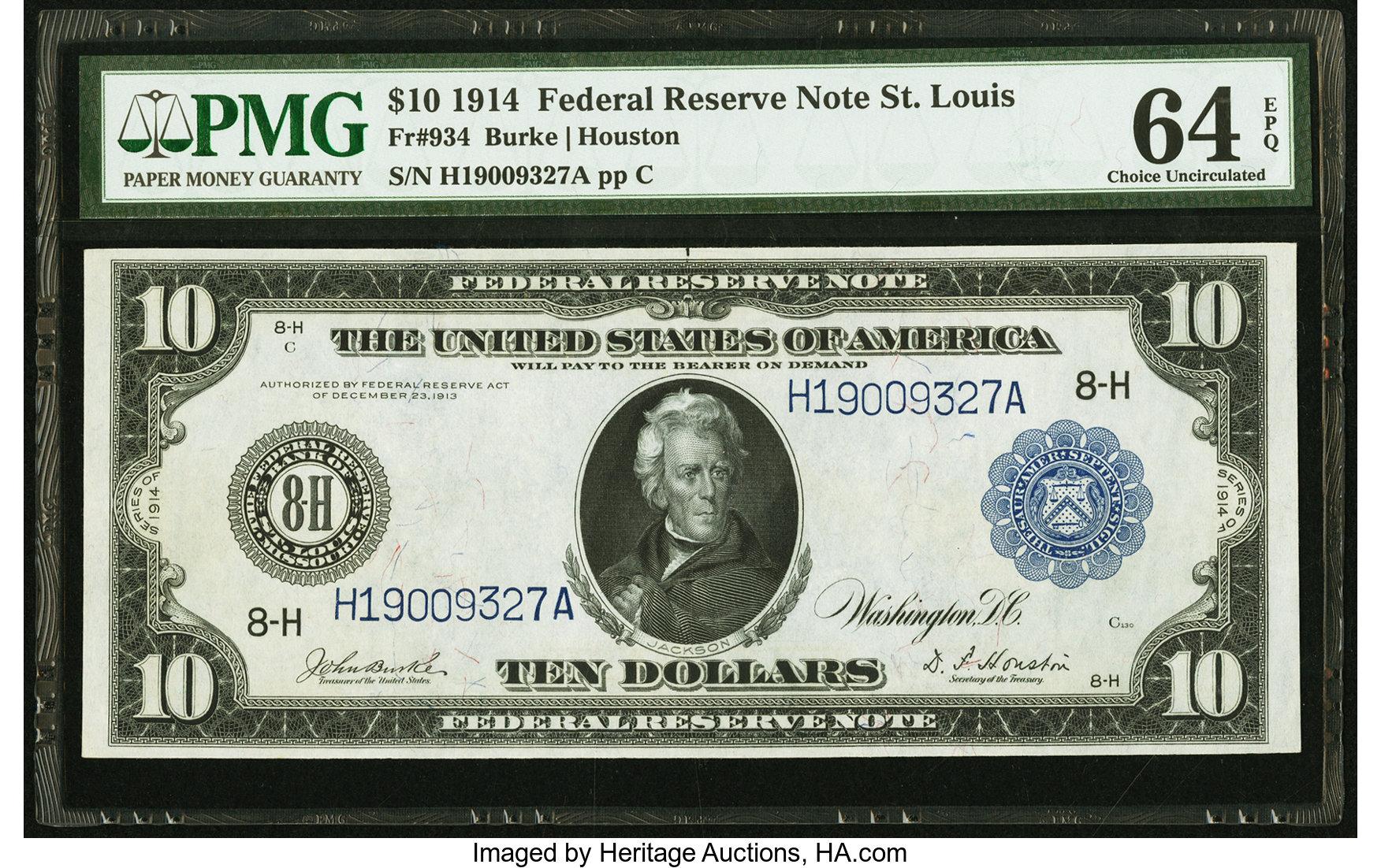 sample image for Fr.934 $10 St.L