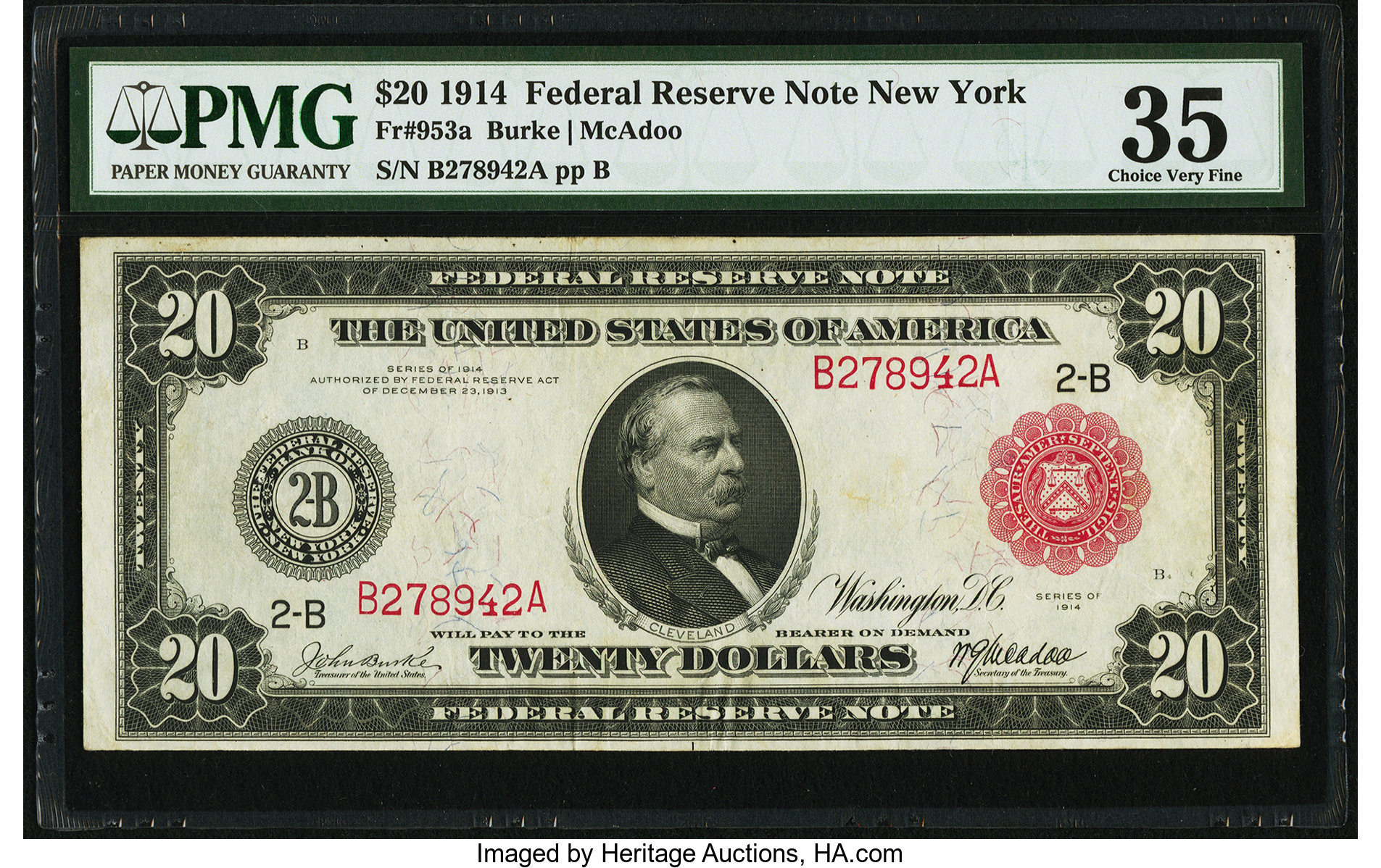 sample image for Fr.953A $20 NY RS