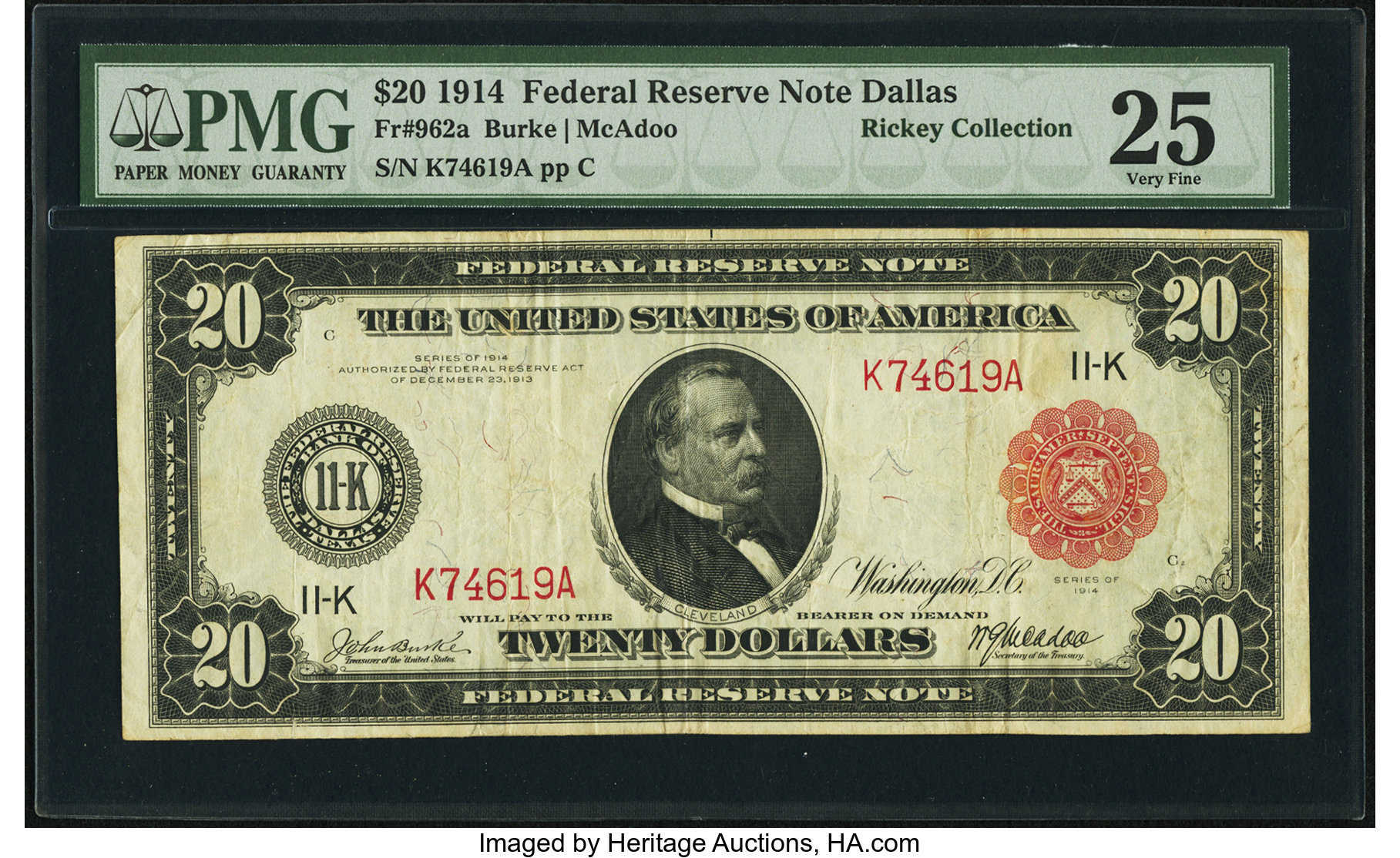 sample image for Fr.962A $20 Dallas RS