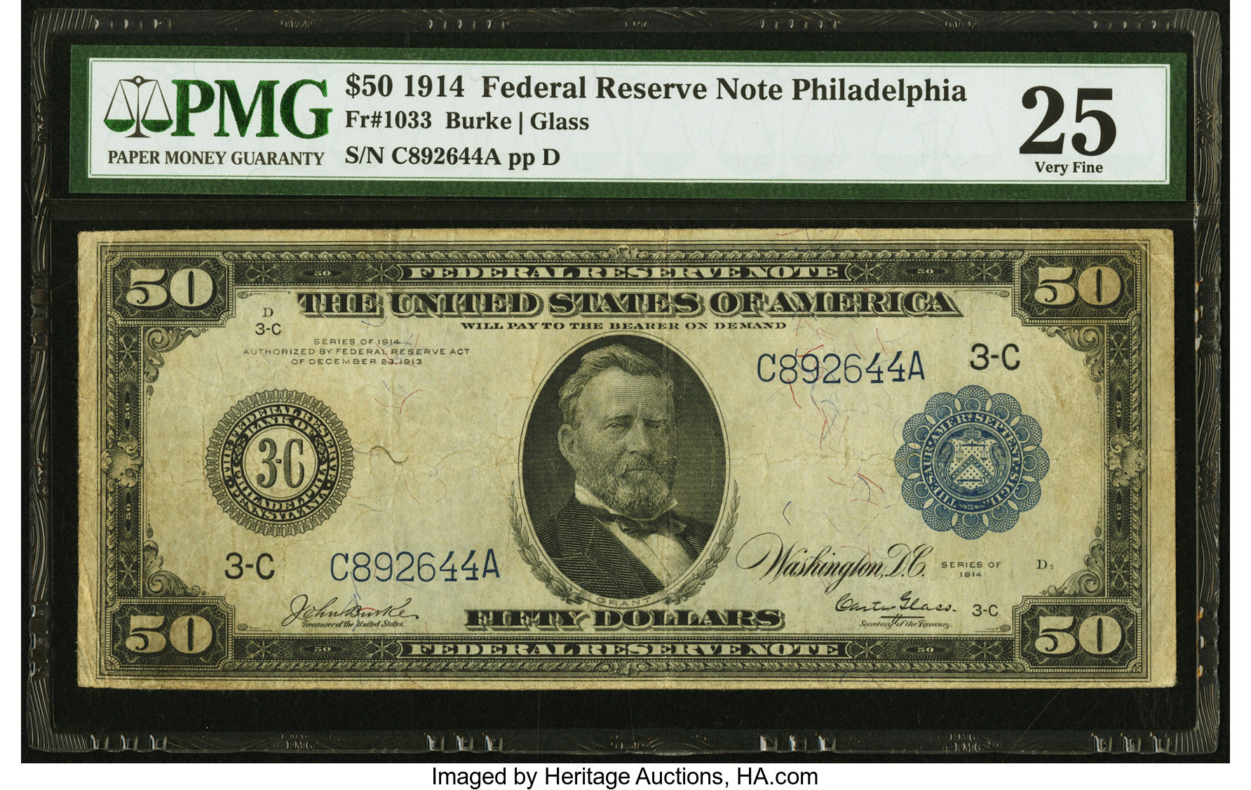 sample image for Fr.1033 $50 Philly