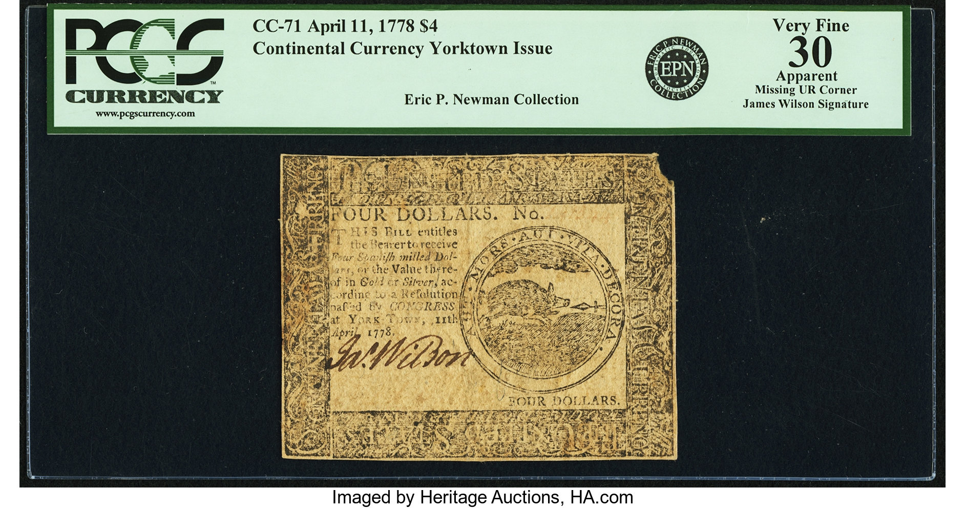 sample image for 1778 $4 CC71 Yorktown