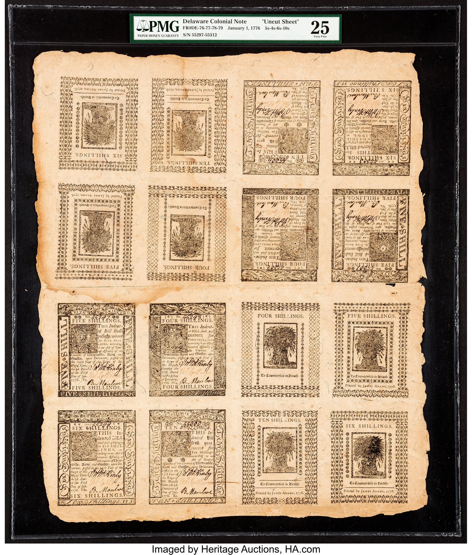 sample image for 1776 1-Jan 4s (Fr.# DE76)