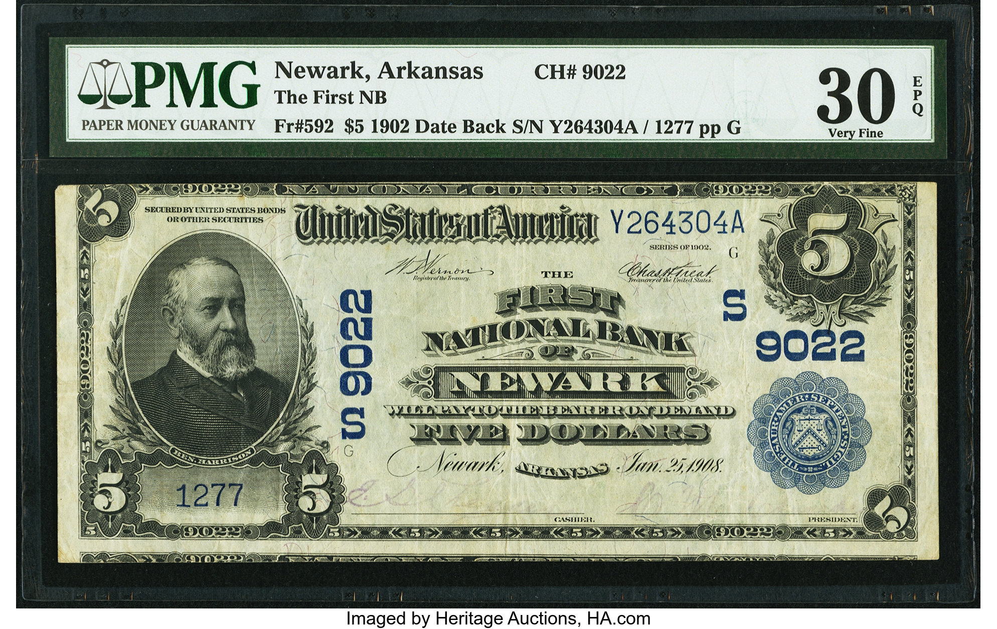 sample image for 1902 3rd Charter Period $5  Date Back 2nd Issue (Fr.# 592)