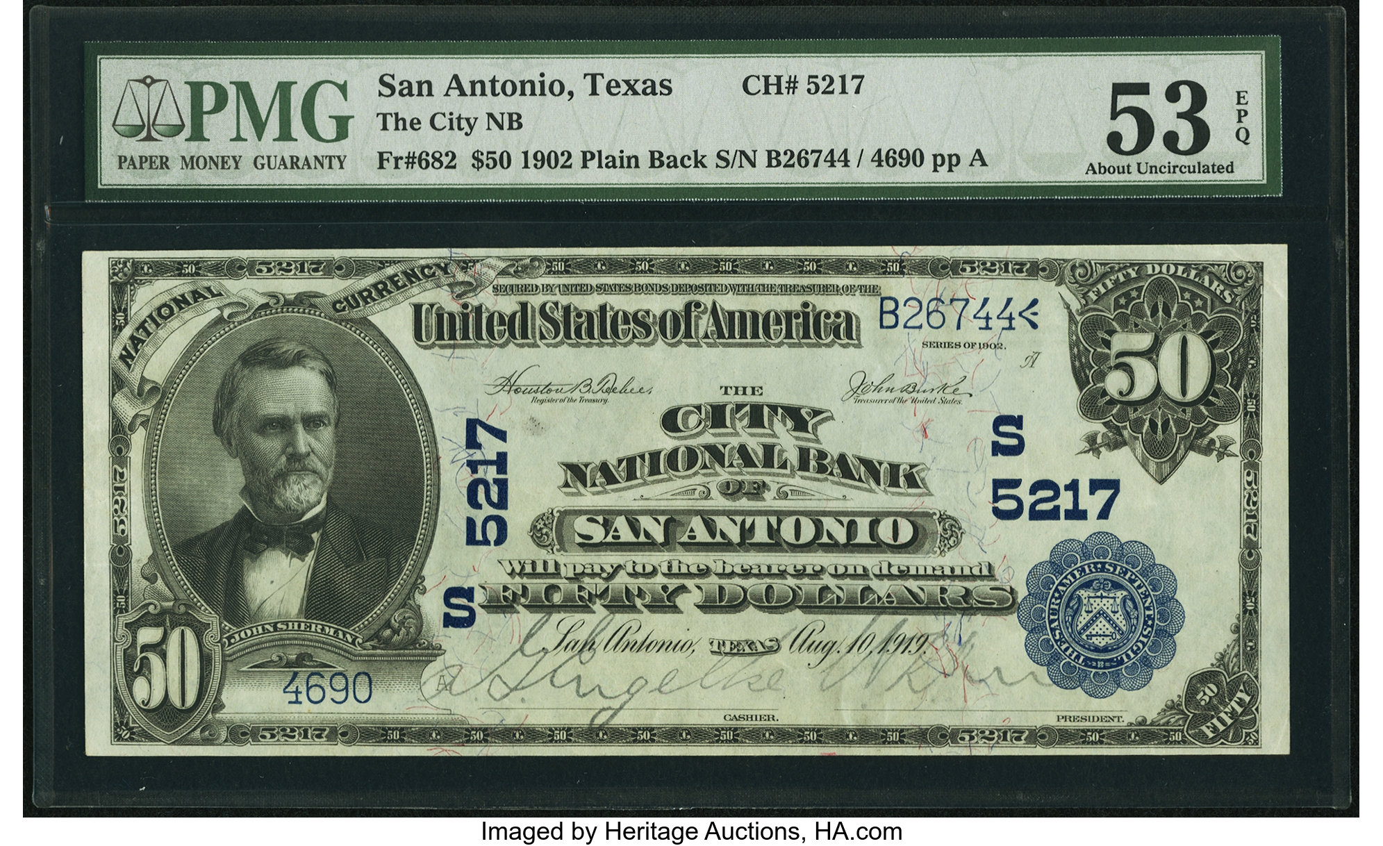 sample image for 1902 3rd Charter Period $50  Plain Back 3rd Issue (Fr.# 682)