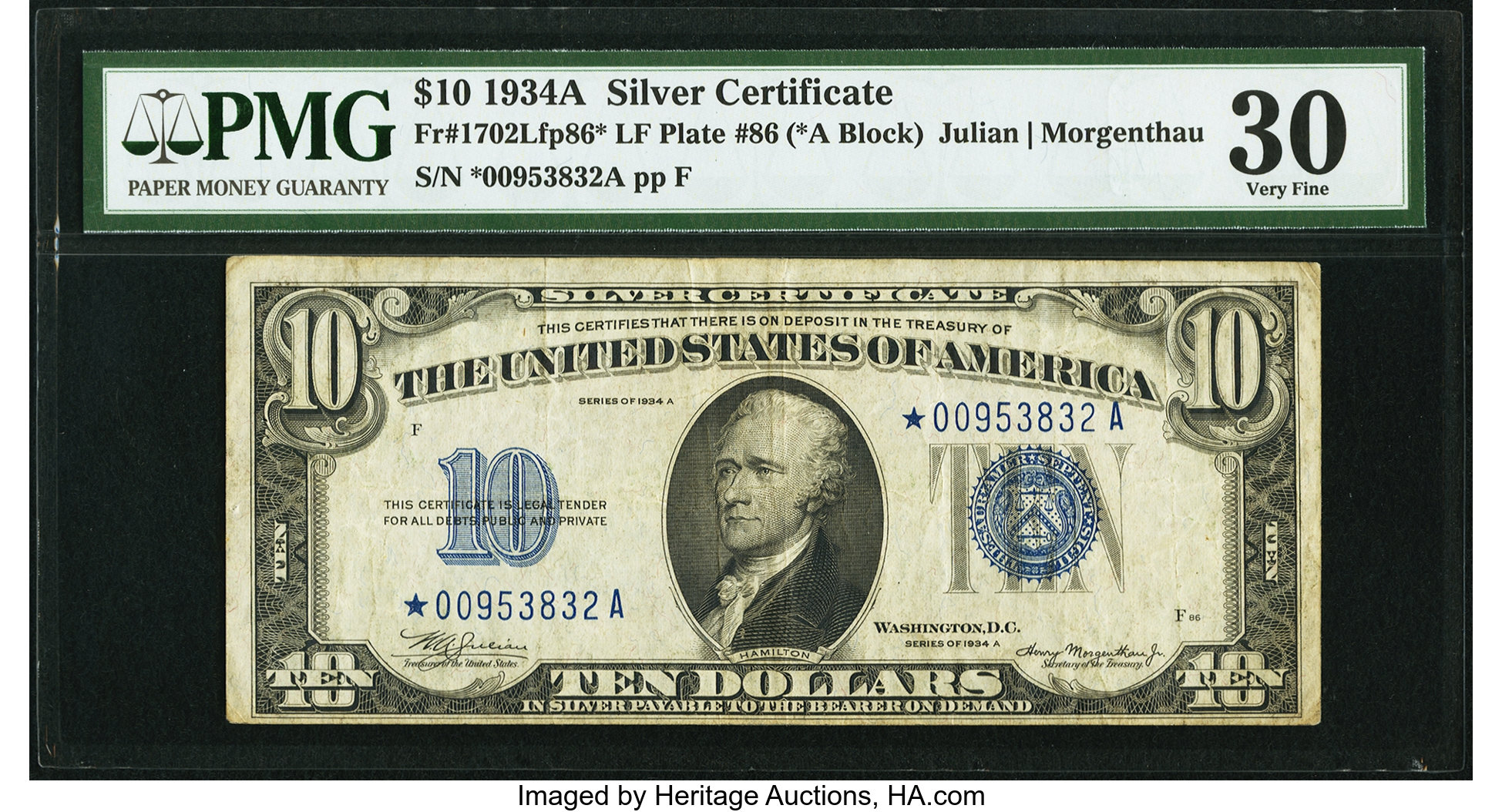 sample image for 1934A $10  Replacement (Fr.# 1702*)