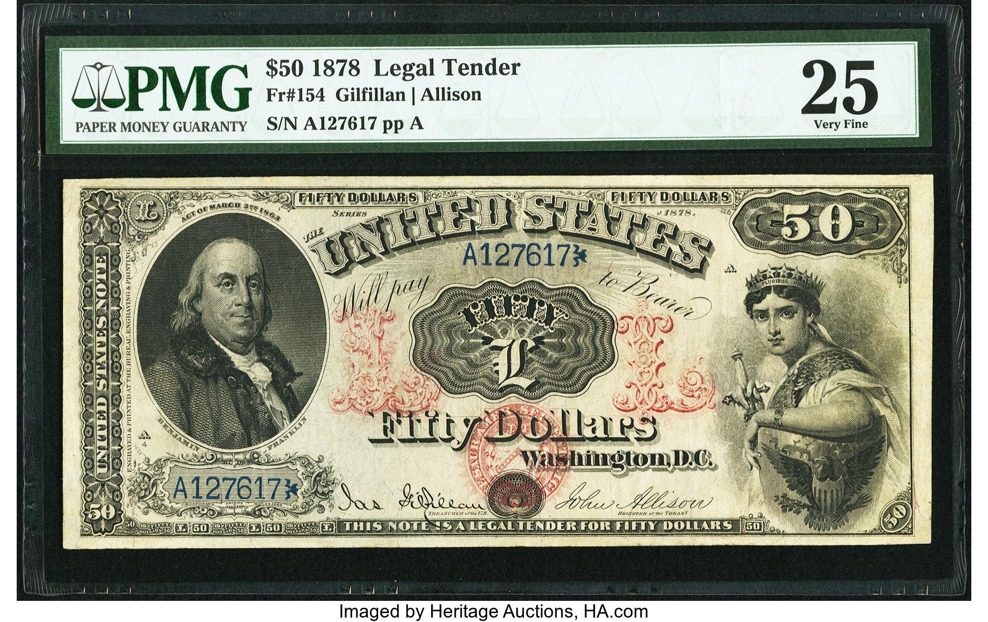 sample image for 1878 $50  (Fr.# 154)