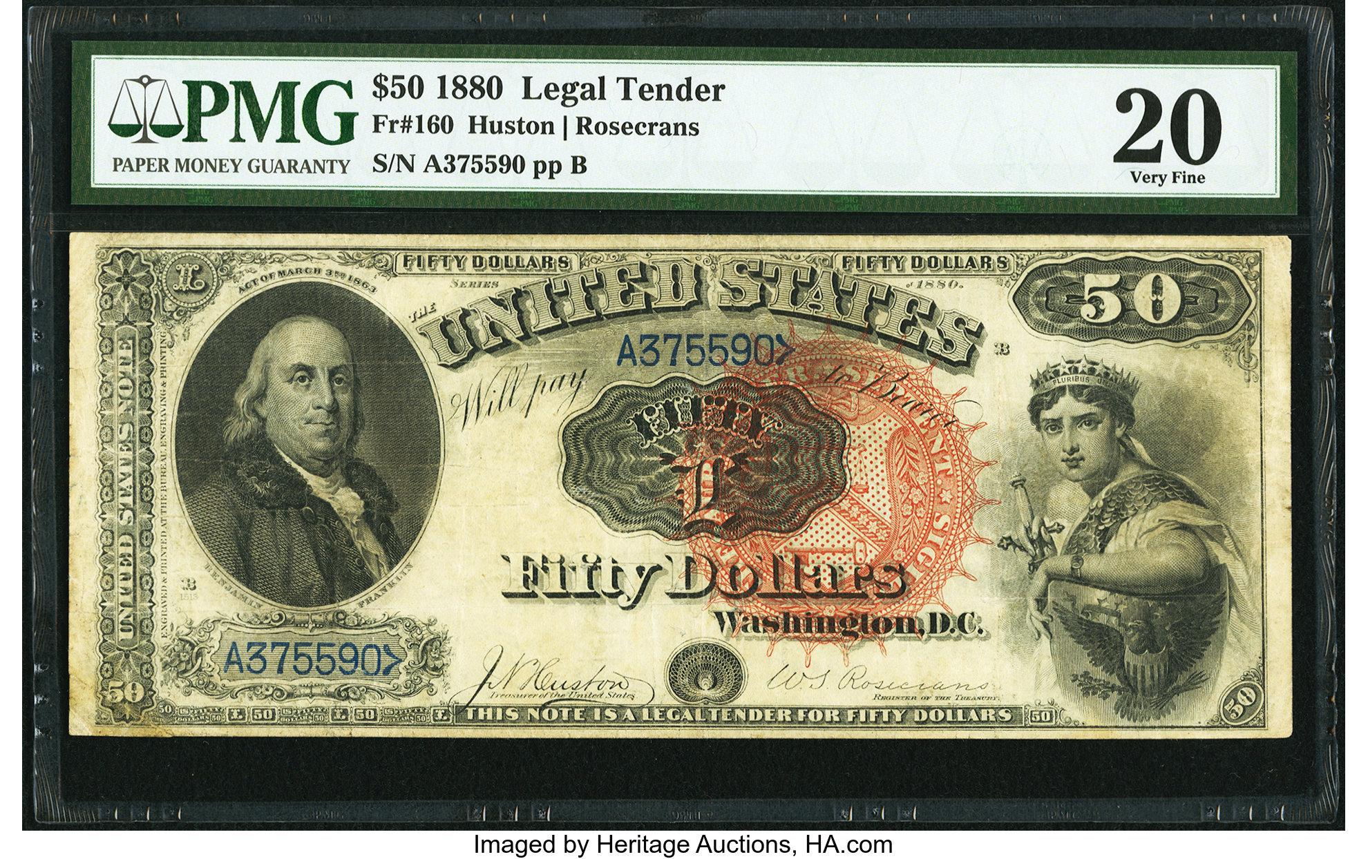 sample image for 1880 $50  (Fr.# 160)
