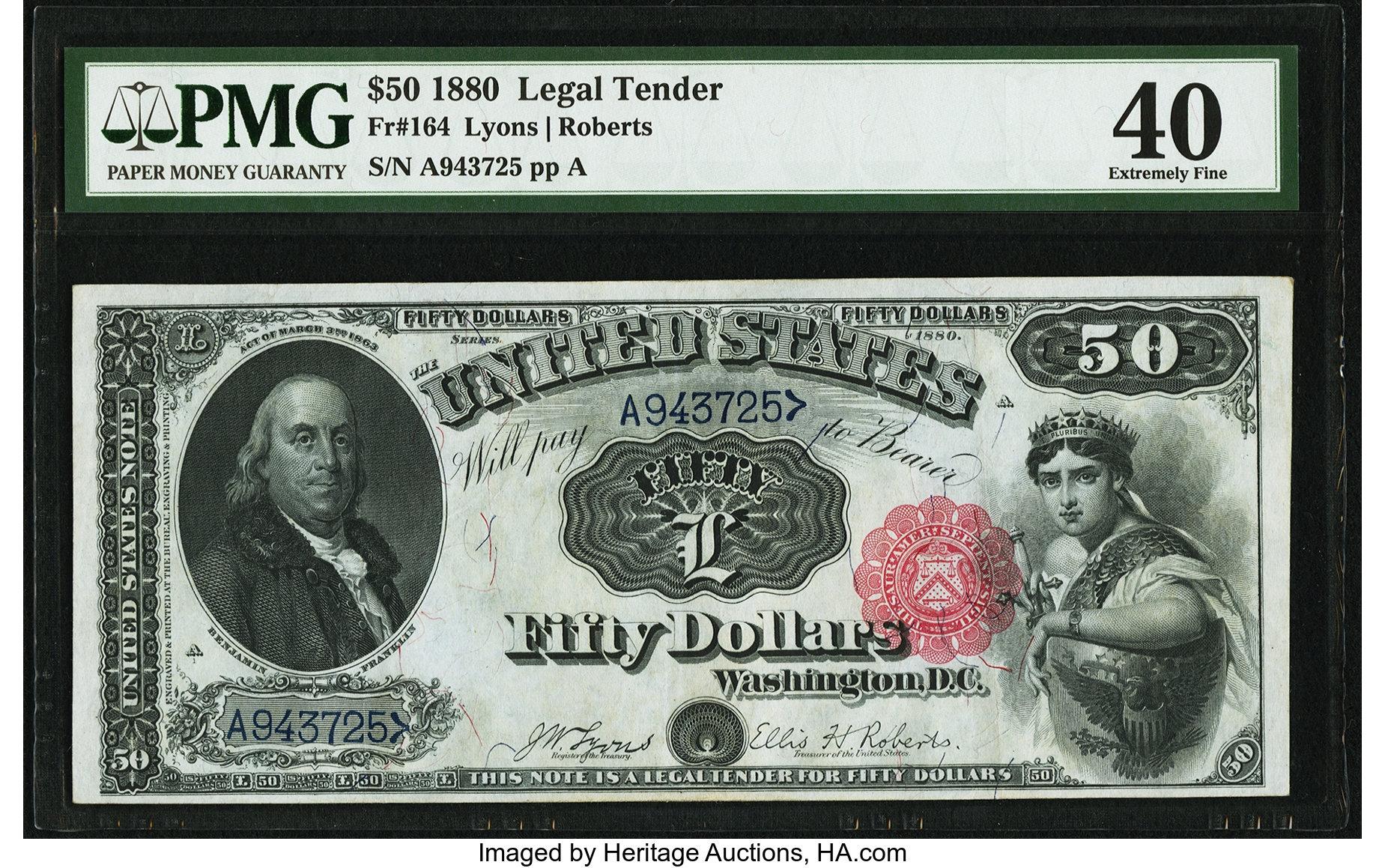 sample image for 1880 $50  (Fr.# 164)