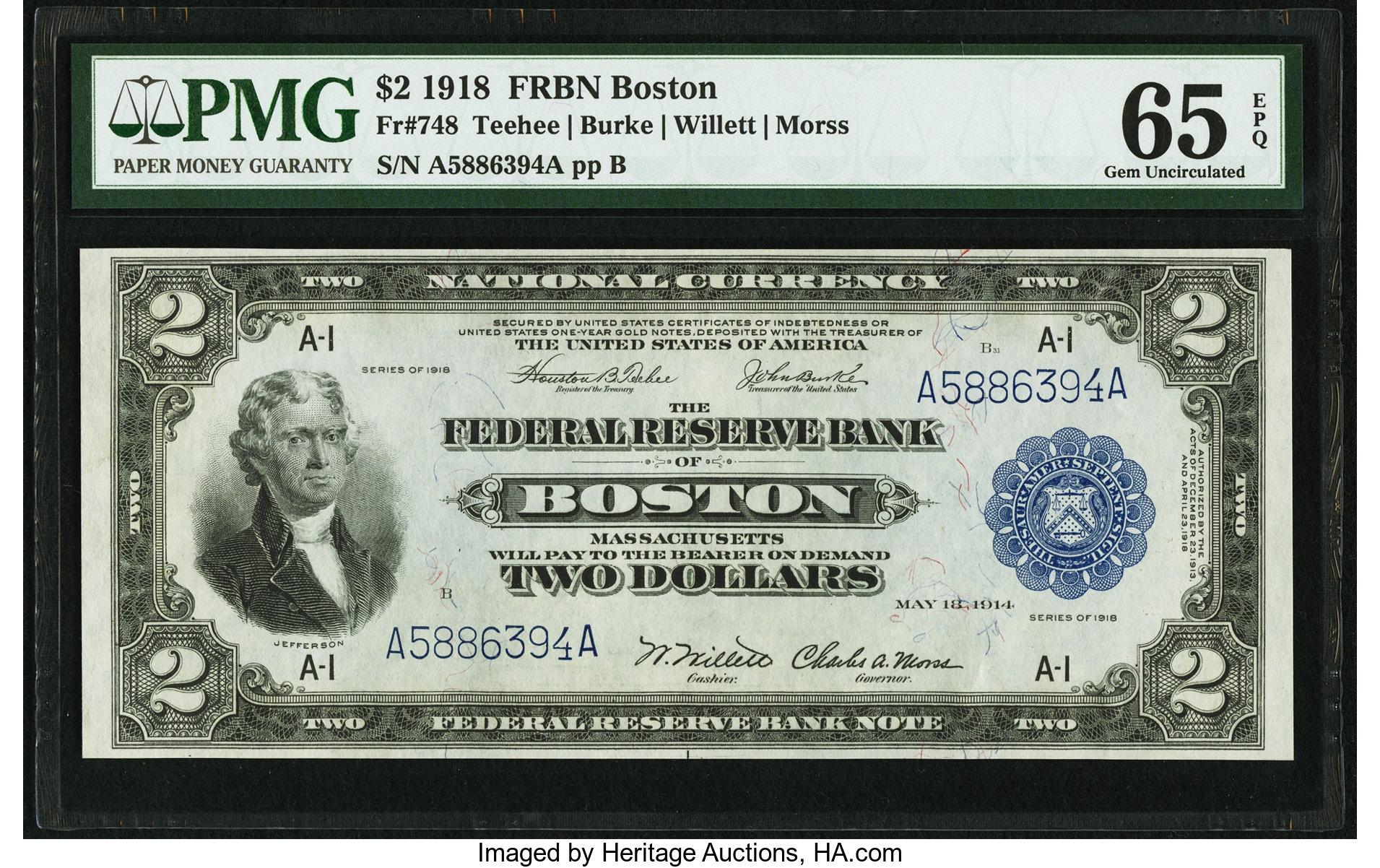 sample image for 1918 $2  Boston (Fr.# 748)