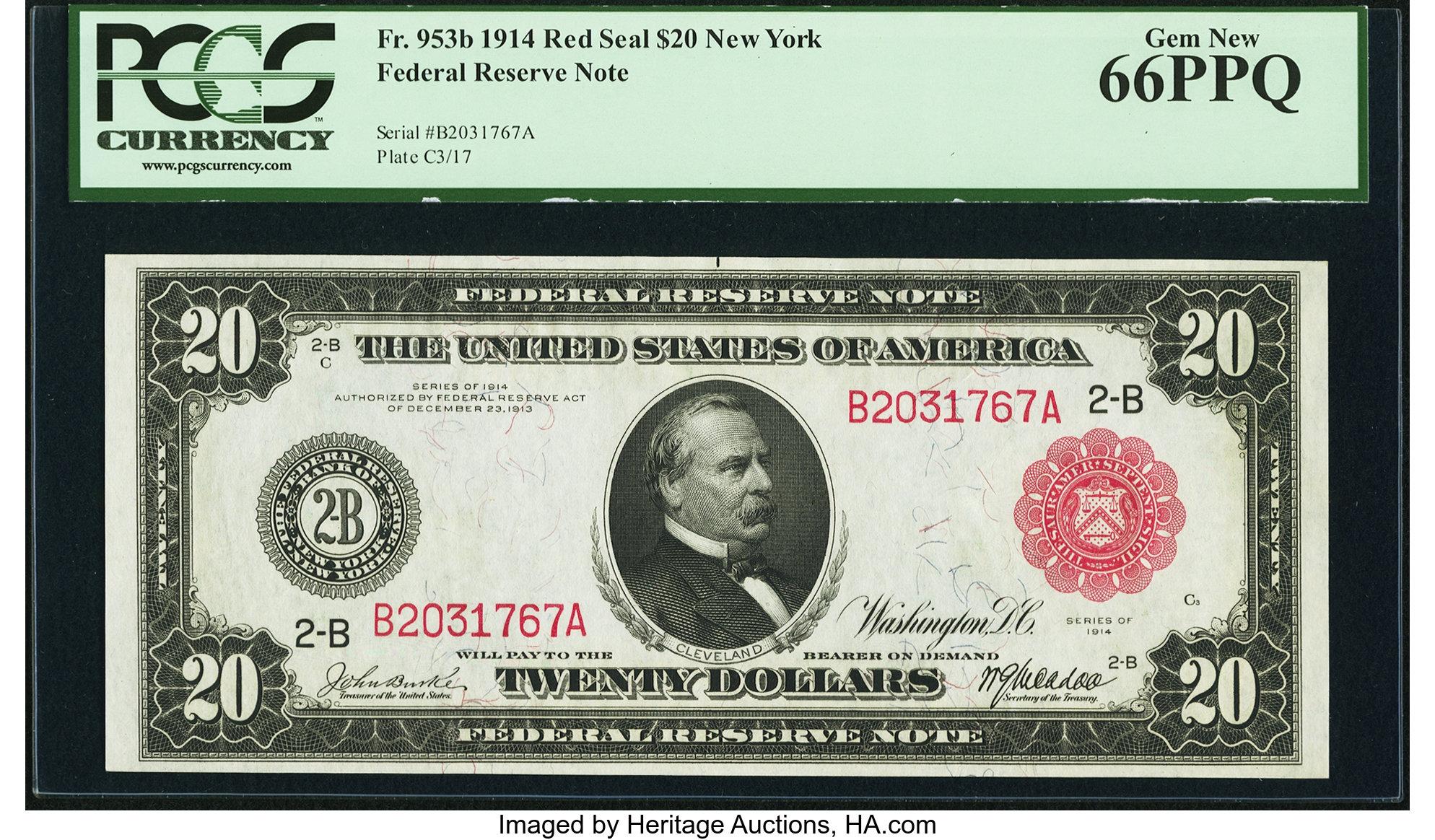 sample image for Fr.953B $20 NY RS