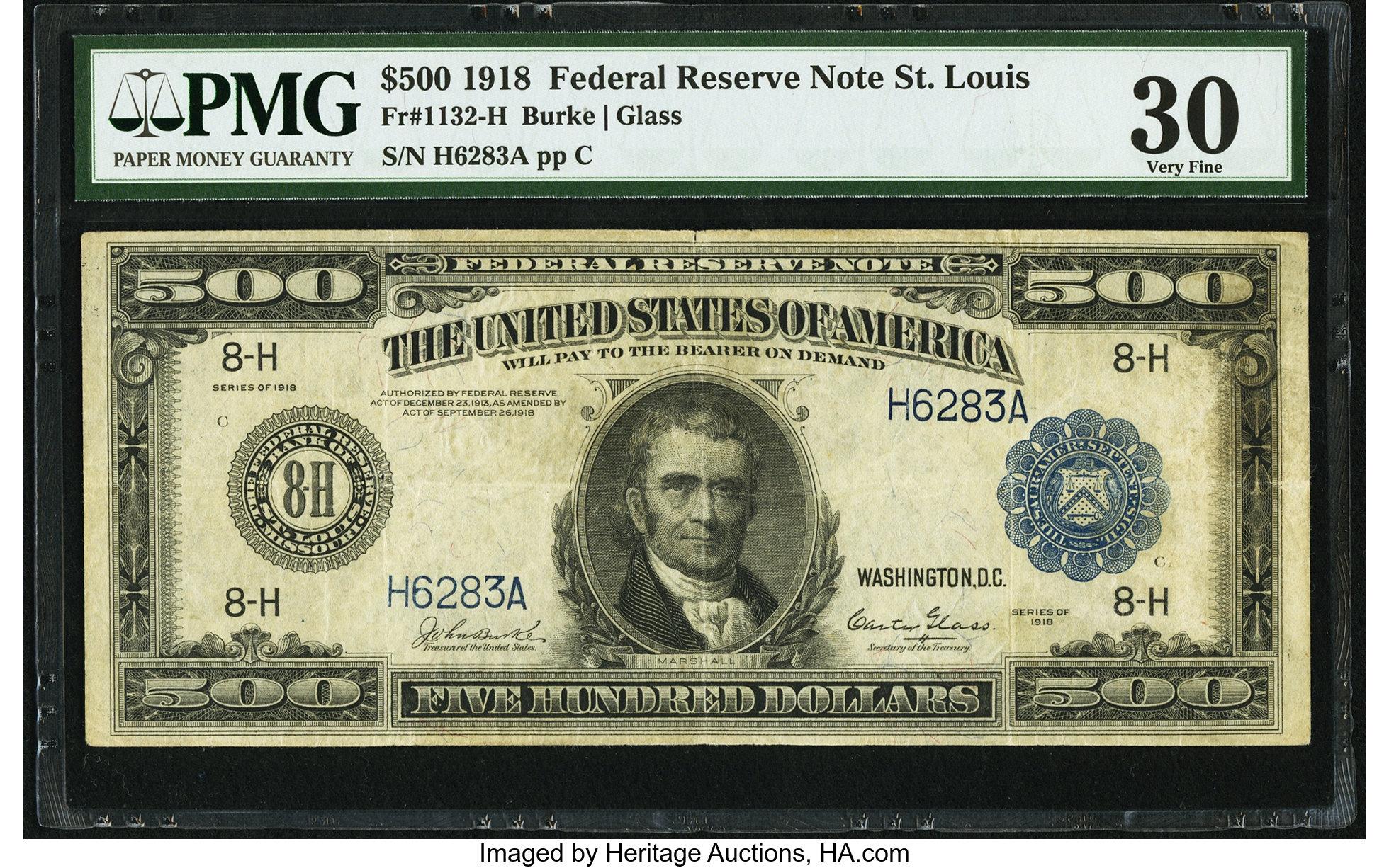 sample image for Fr.1132-H $500 St.L 8 Known
