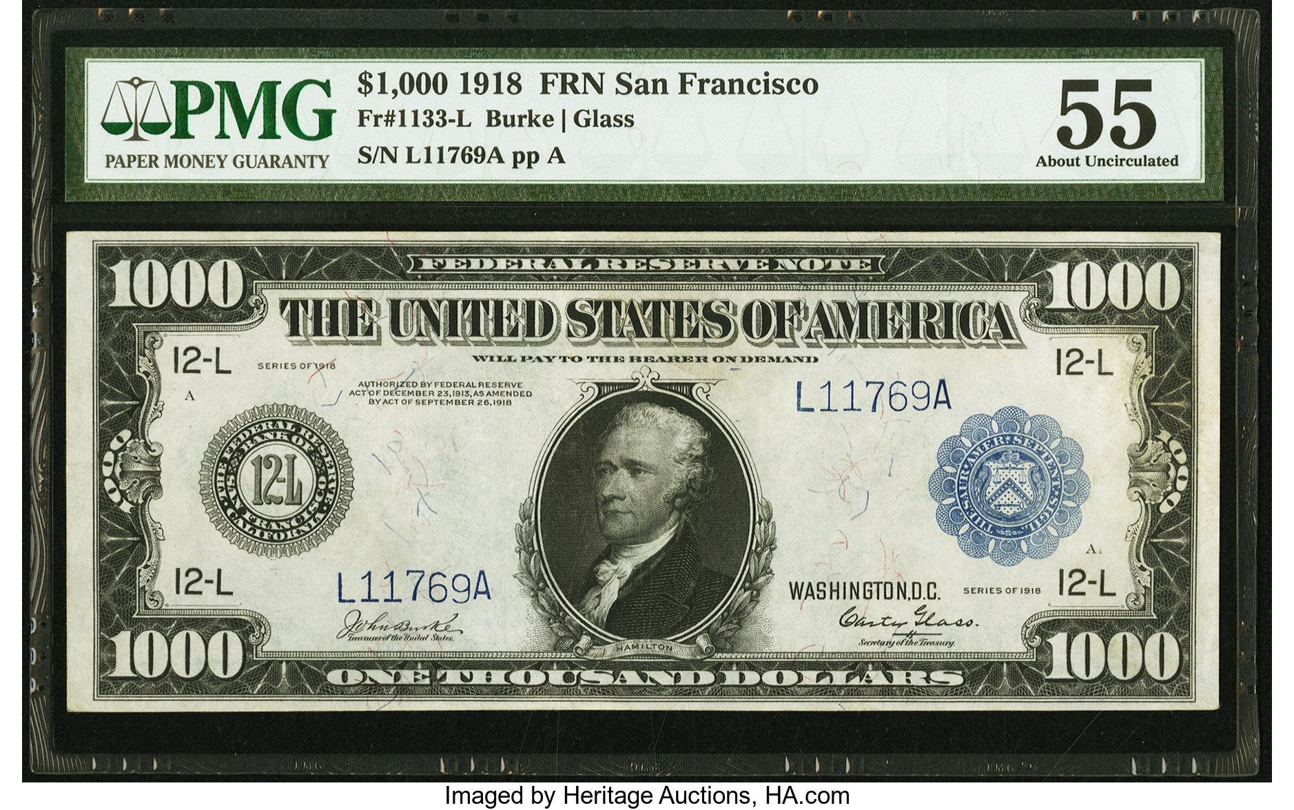 sample image for Fr.1133-L $1,000 SF