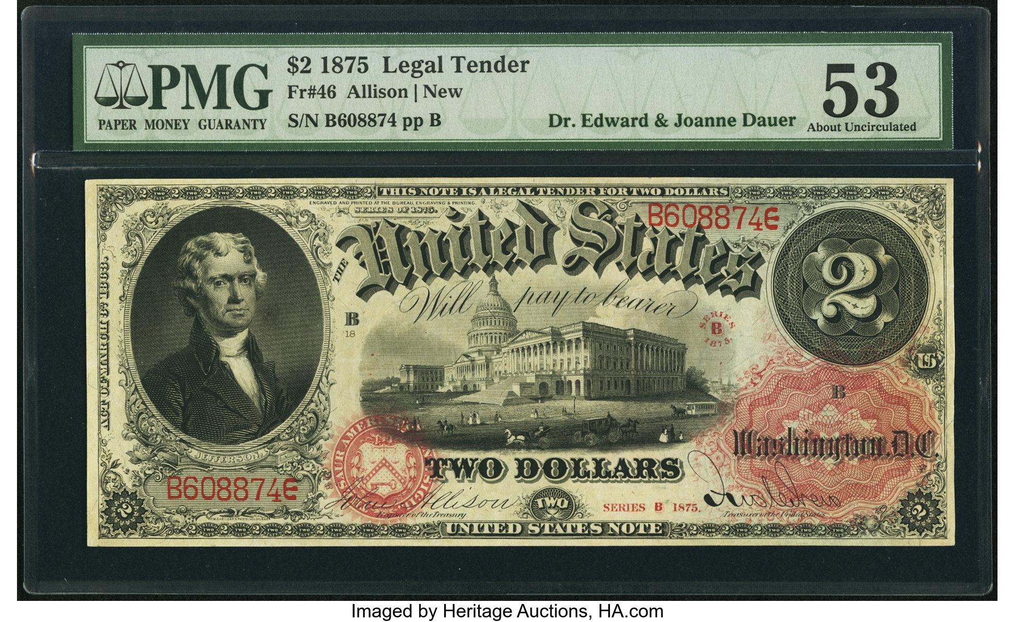 sample image for 1875 $2  (Fr.# 46)
