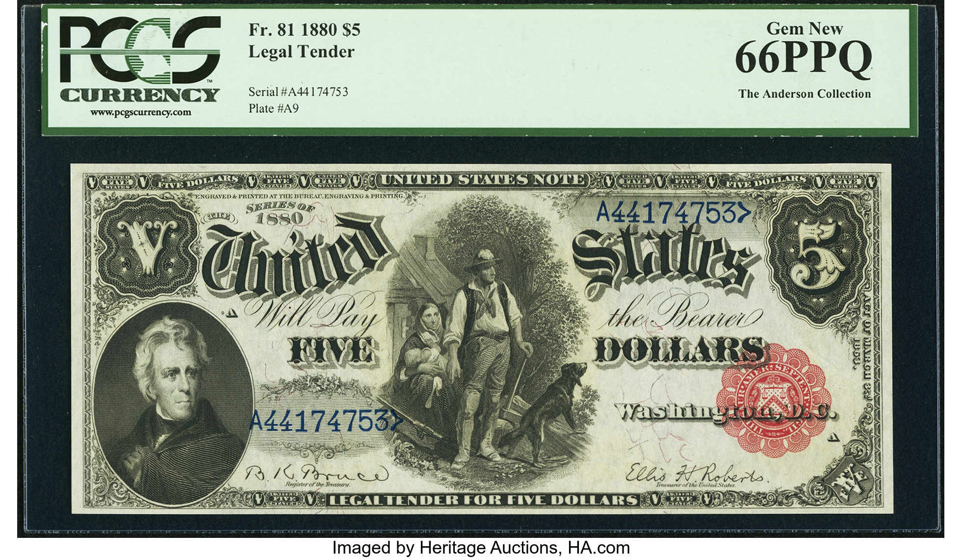 sample image for 1880 $5  (Fr.# 81)