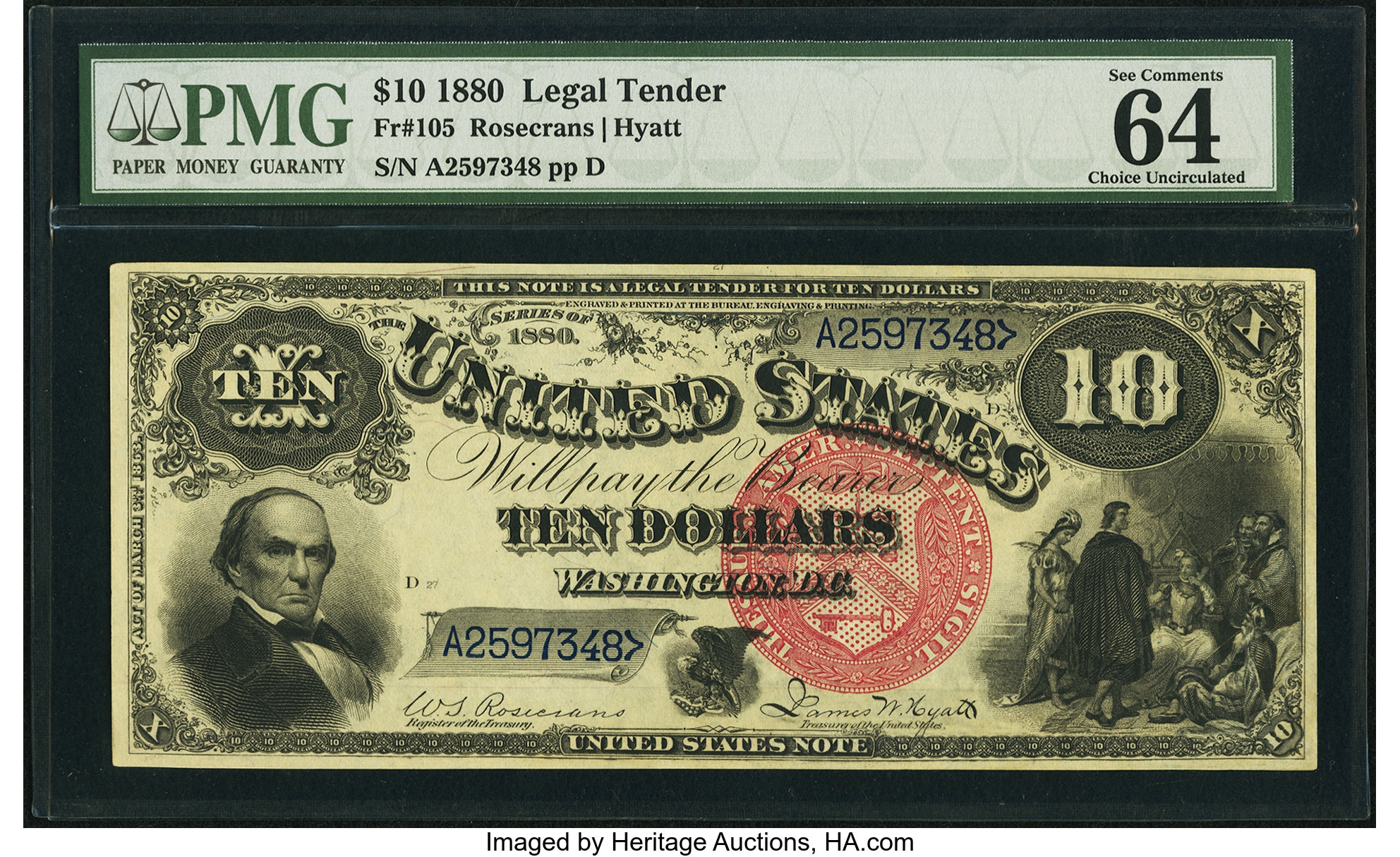 sample image for 1880 $10  (Fr.# 105)