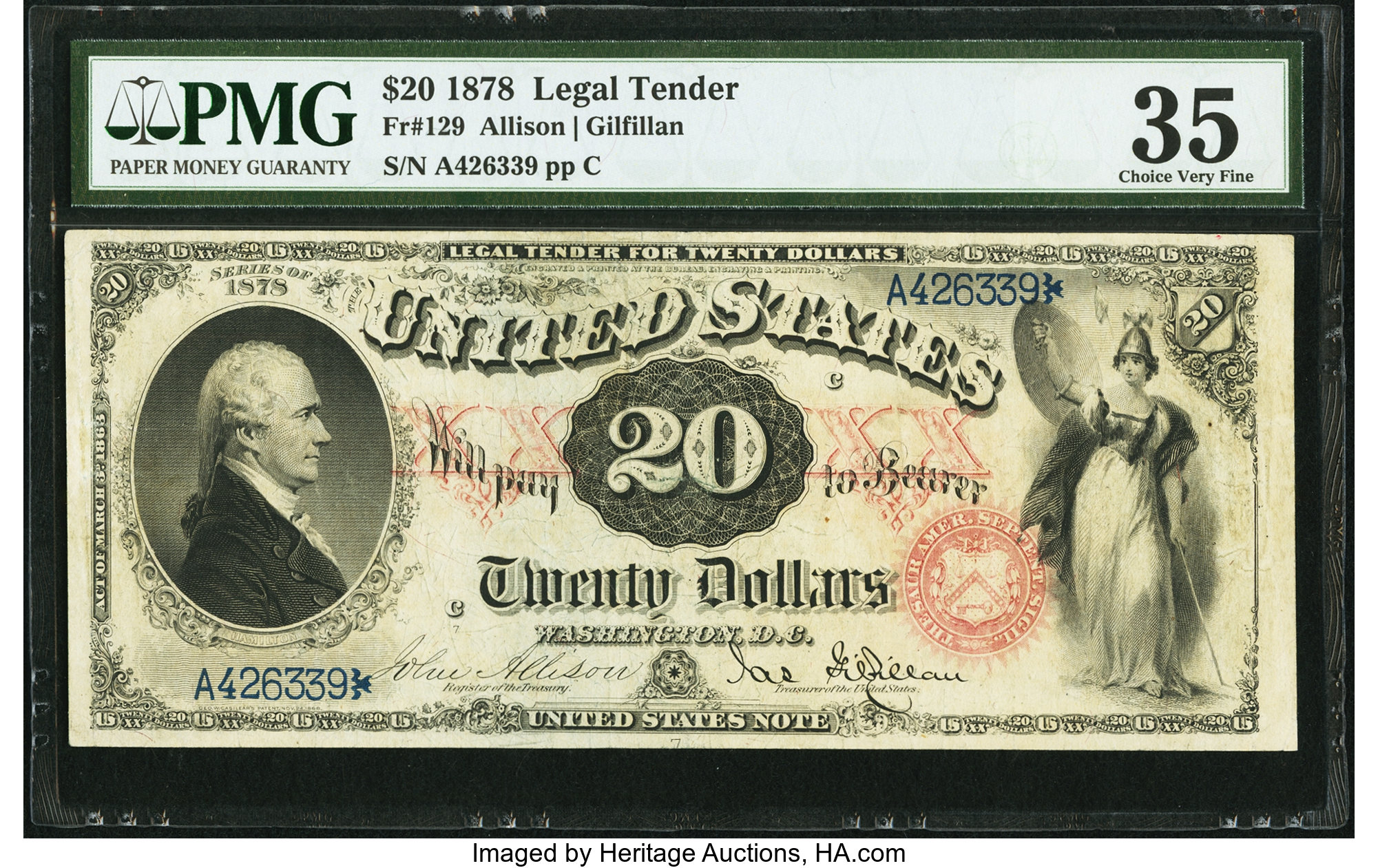 sample image for 1878 $20  (Fr.# 129)