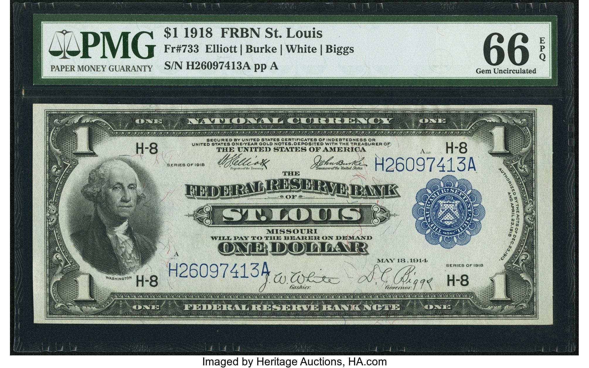 sample image for 1918 $1  St. Louis (Fr.# 733)
