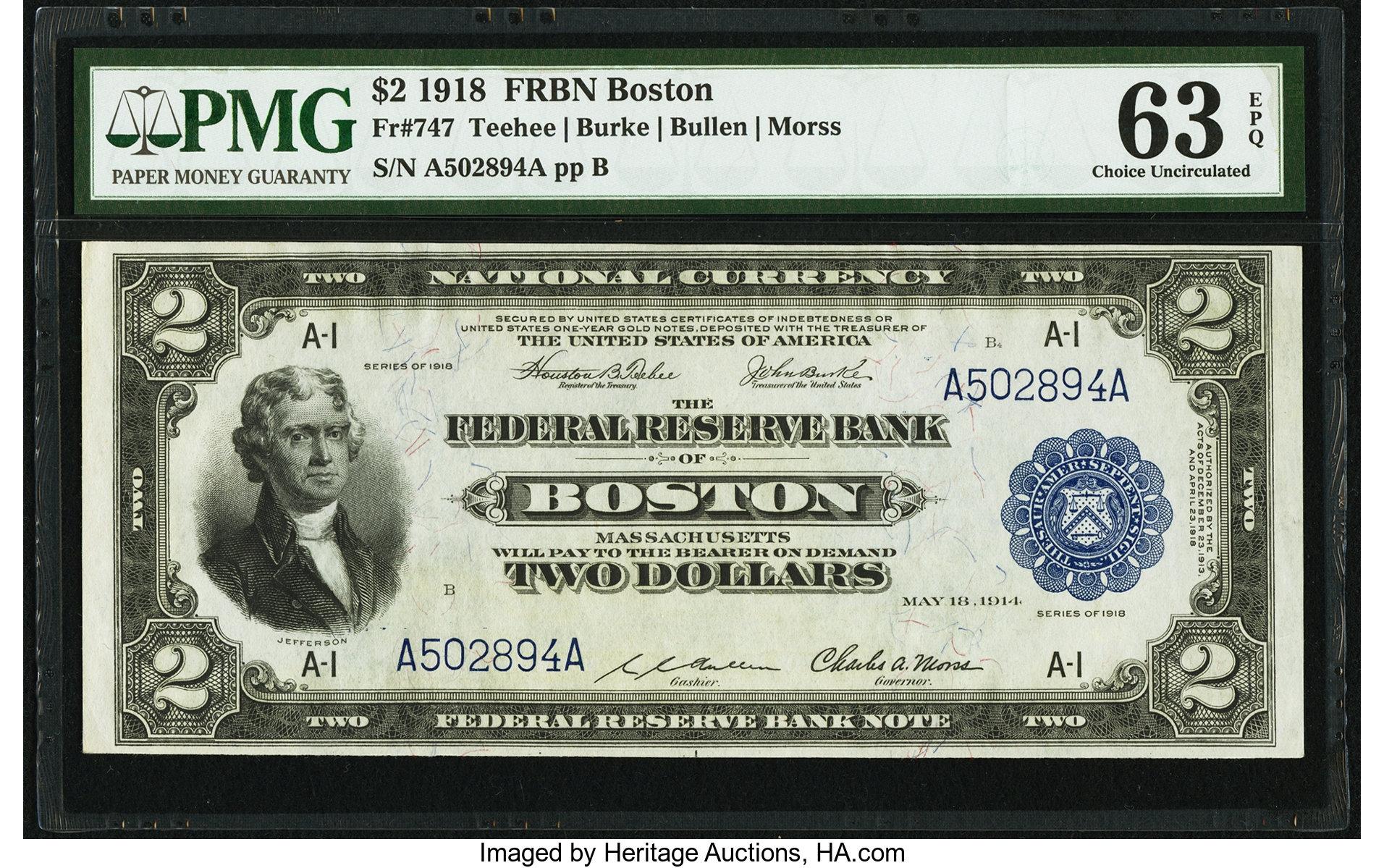 sample image for 1918 $2  Boston (Fr.# 747)