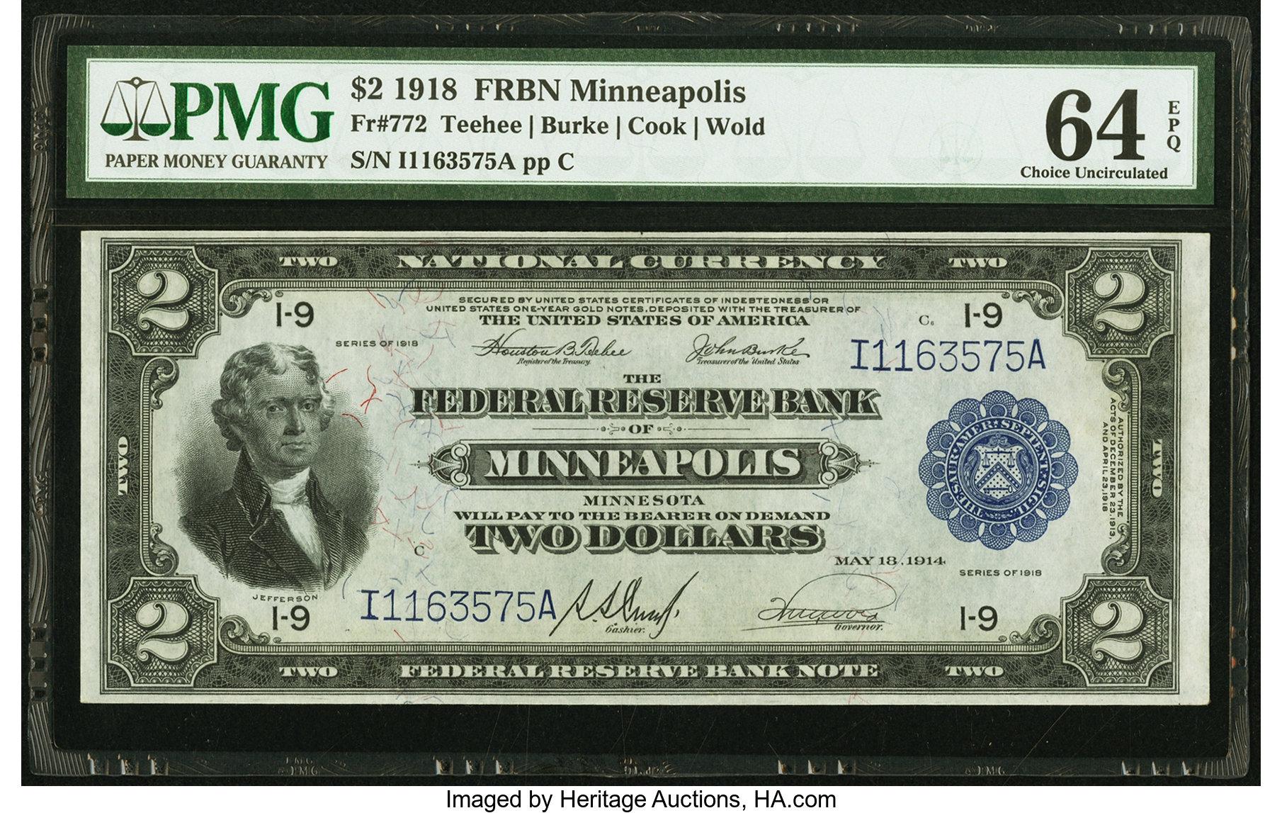 sample image for 1918 $2  Minneapolis (Fr.# 772)