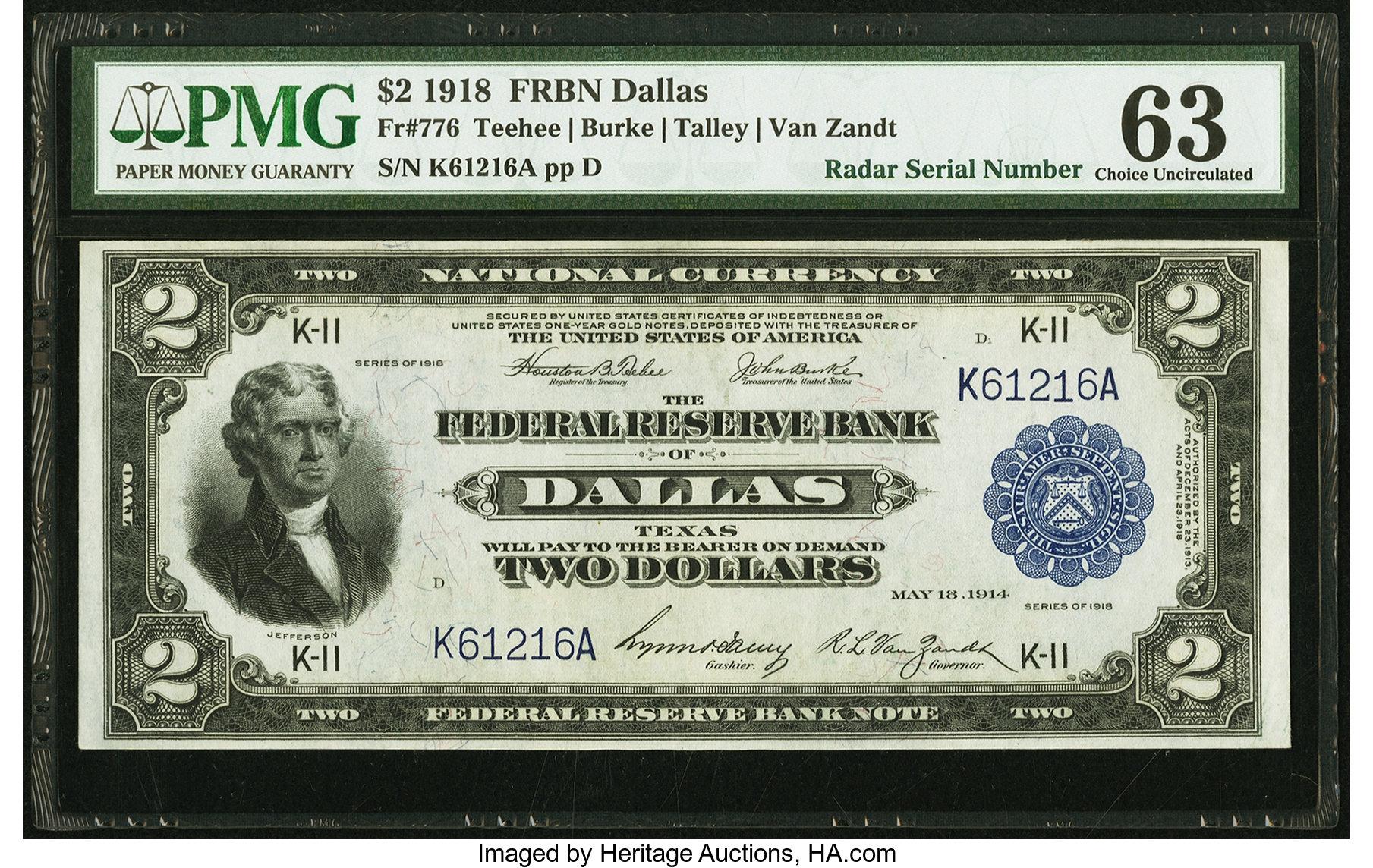 sample image for 1918 $2  Dallas (Fr.# 776)
