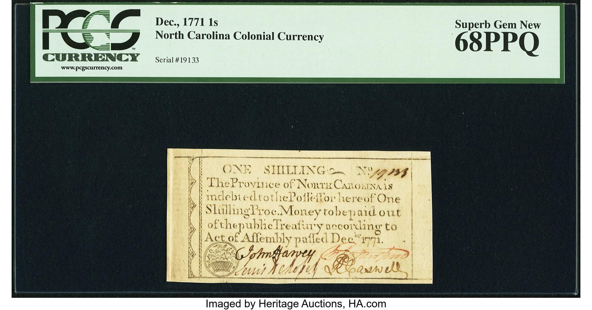 sample image for 1771 December 1s (Fr.# NC135)