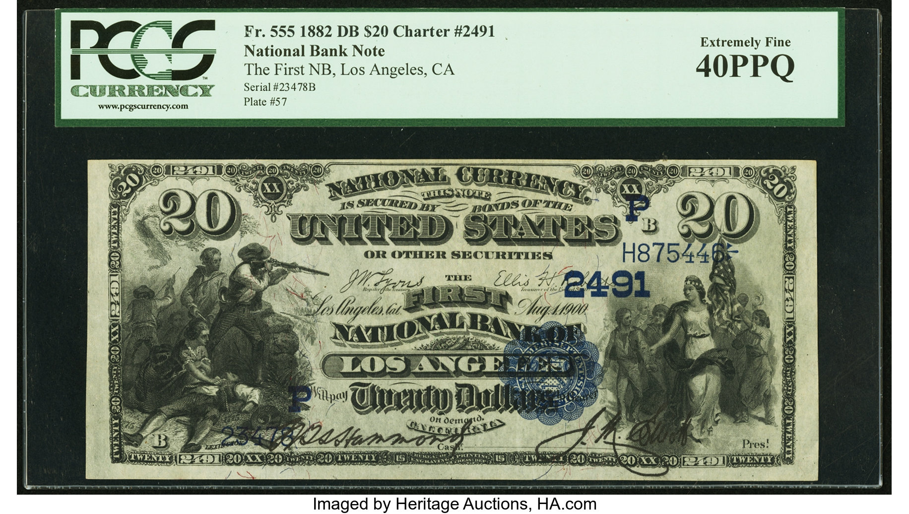 sample image for 1882 2nd Charter Period $20  Date Back 2nd Issue (Fr.# 555)