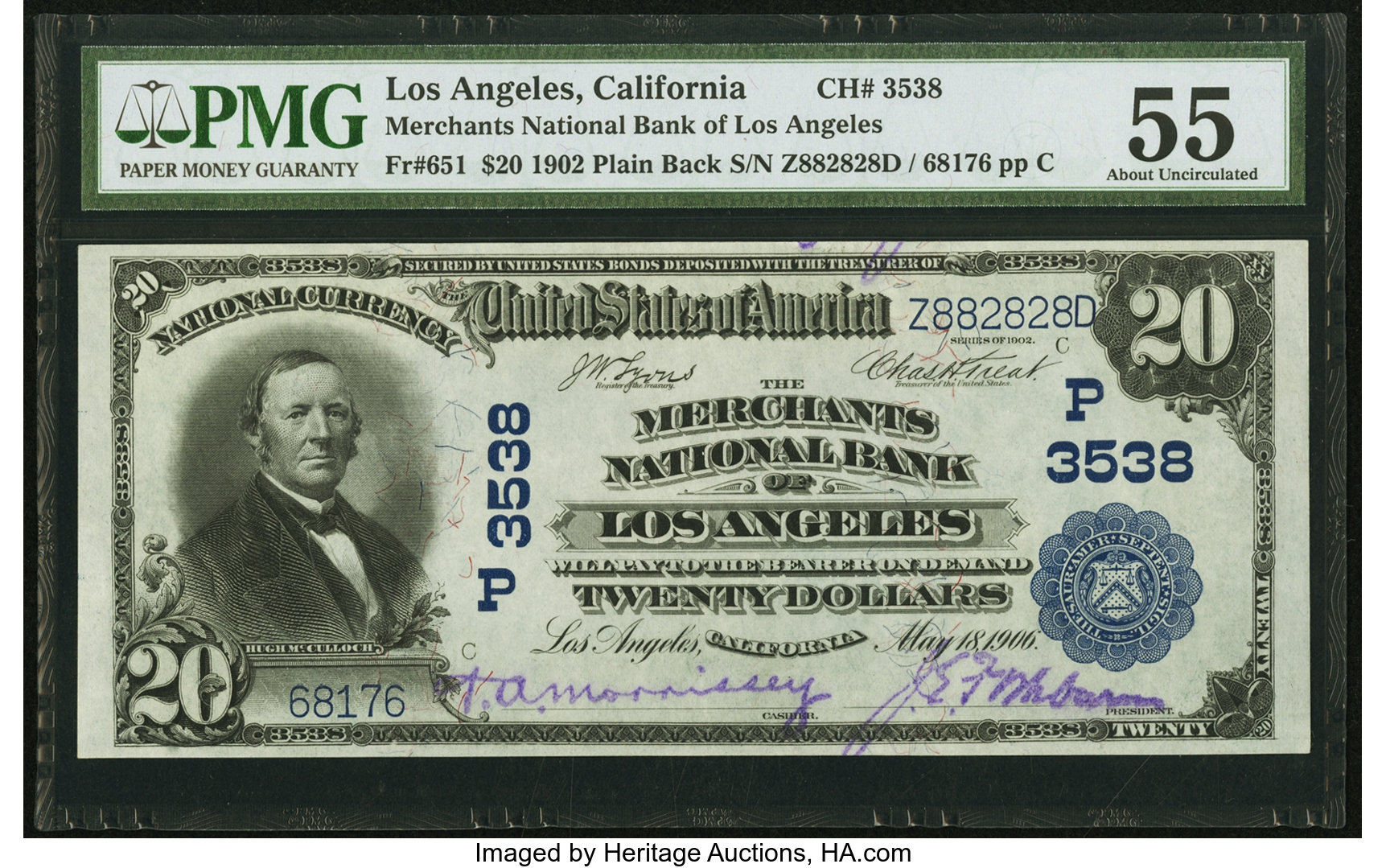 sample image for 1902 3rd Charter Period $20  Plain Back 3rd Issue (Fr.# 651)