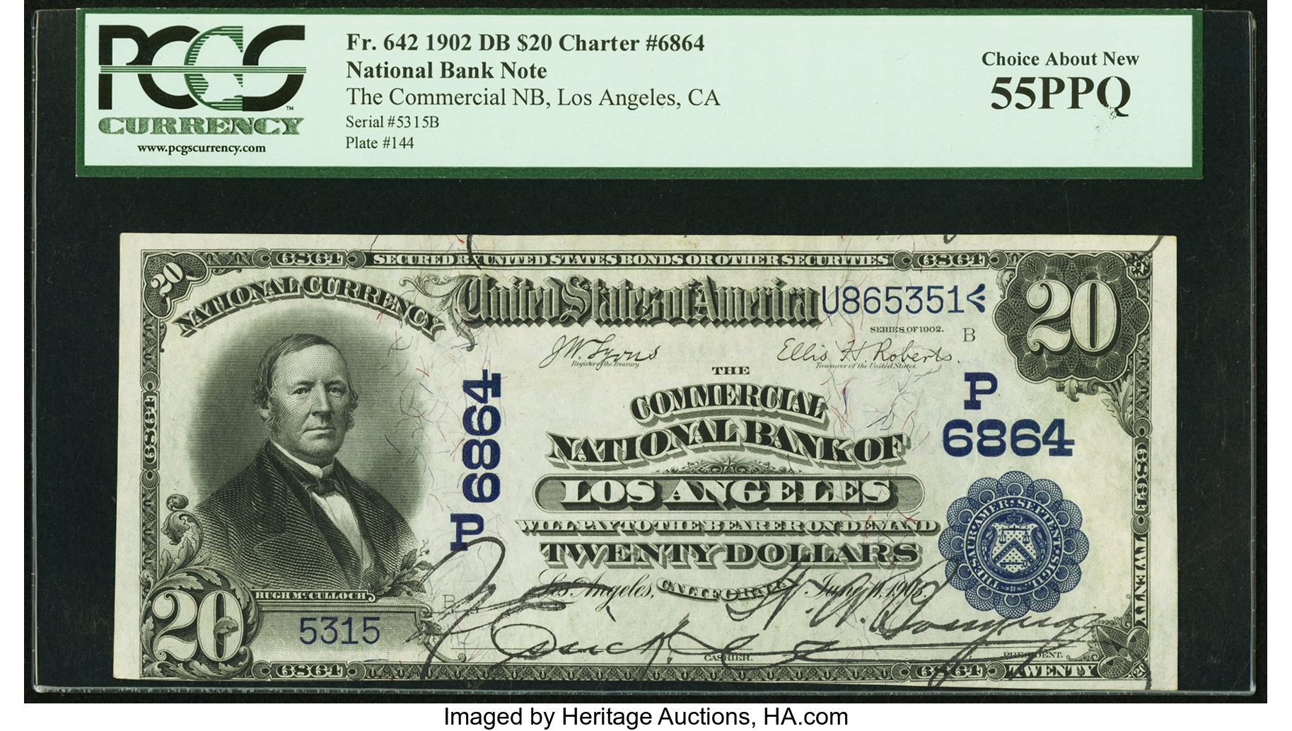 sample image for 1902 3rd Charter Period $20  Date Back 2nd Issue (Fr.# 642)