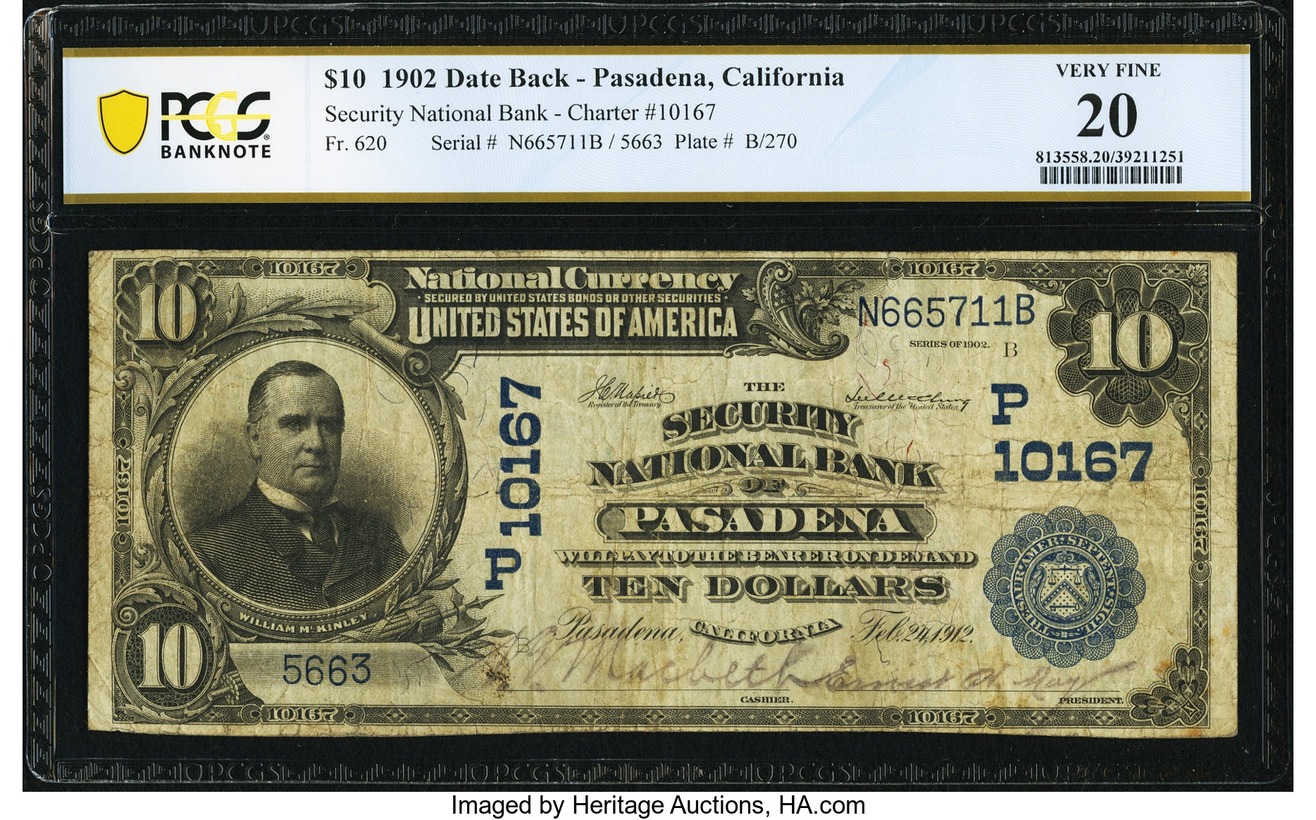 sample image for 1902 3rd Charter Period $10  Date Back 2nd Issue (Fr.# 620)