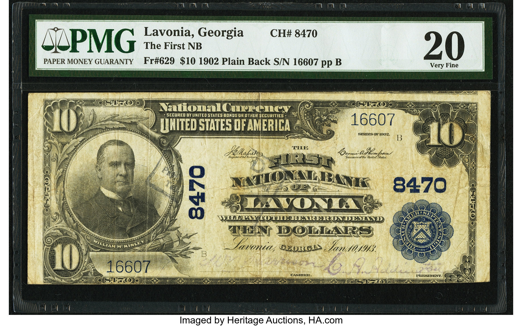 sample image for 1902 3rd Charter Period $10  Plain Back 3rd Issue (Fr.# 629)