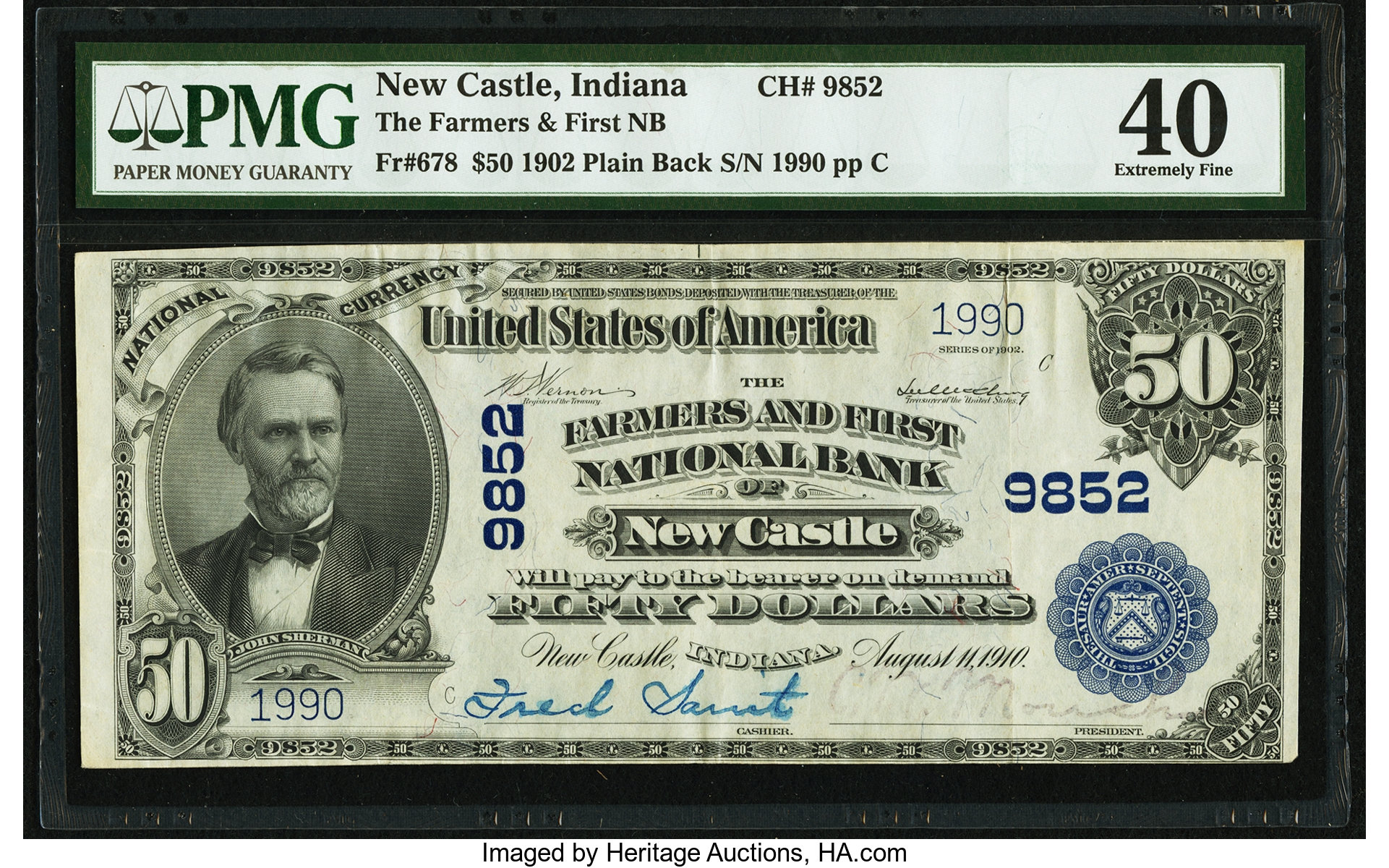 sample image for 1902 3rd Charter Period $50  Plain Back 3rd Issue (Fr.# 678)
