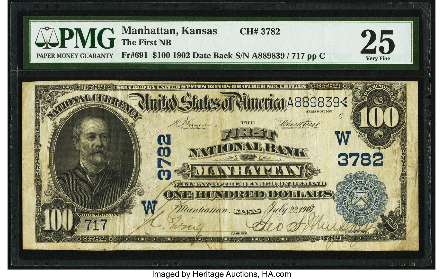 sample image for 1902 3rd Charter Period $100  Date Back 2nd Issue (Fr.# 691)