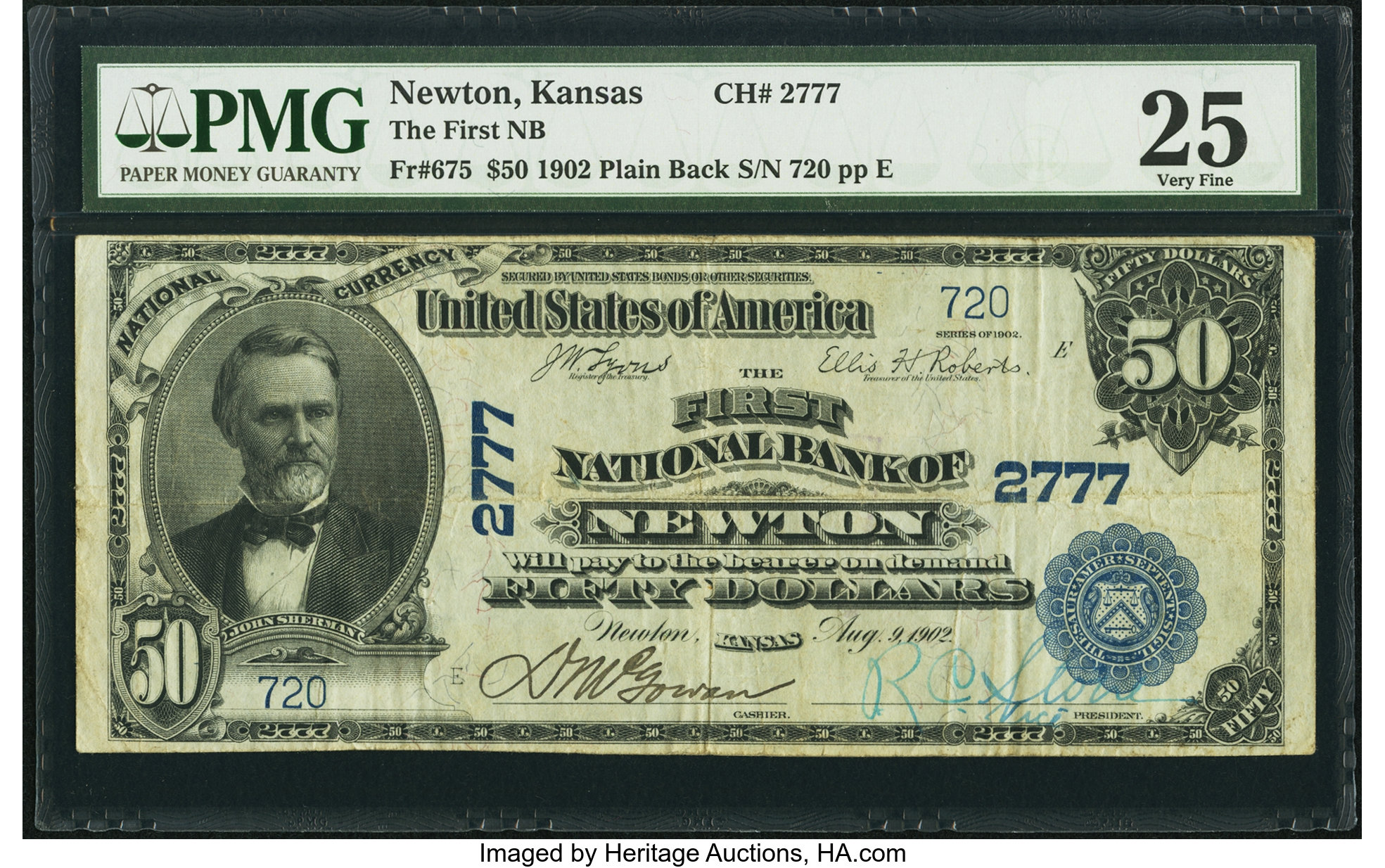 sample image for 1902 3rd Charter Period $50  Plain Back 3rd Issue (Fr.# 675)