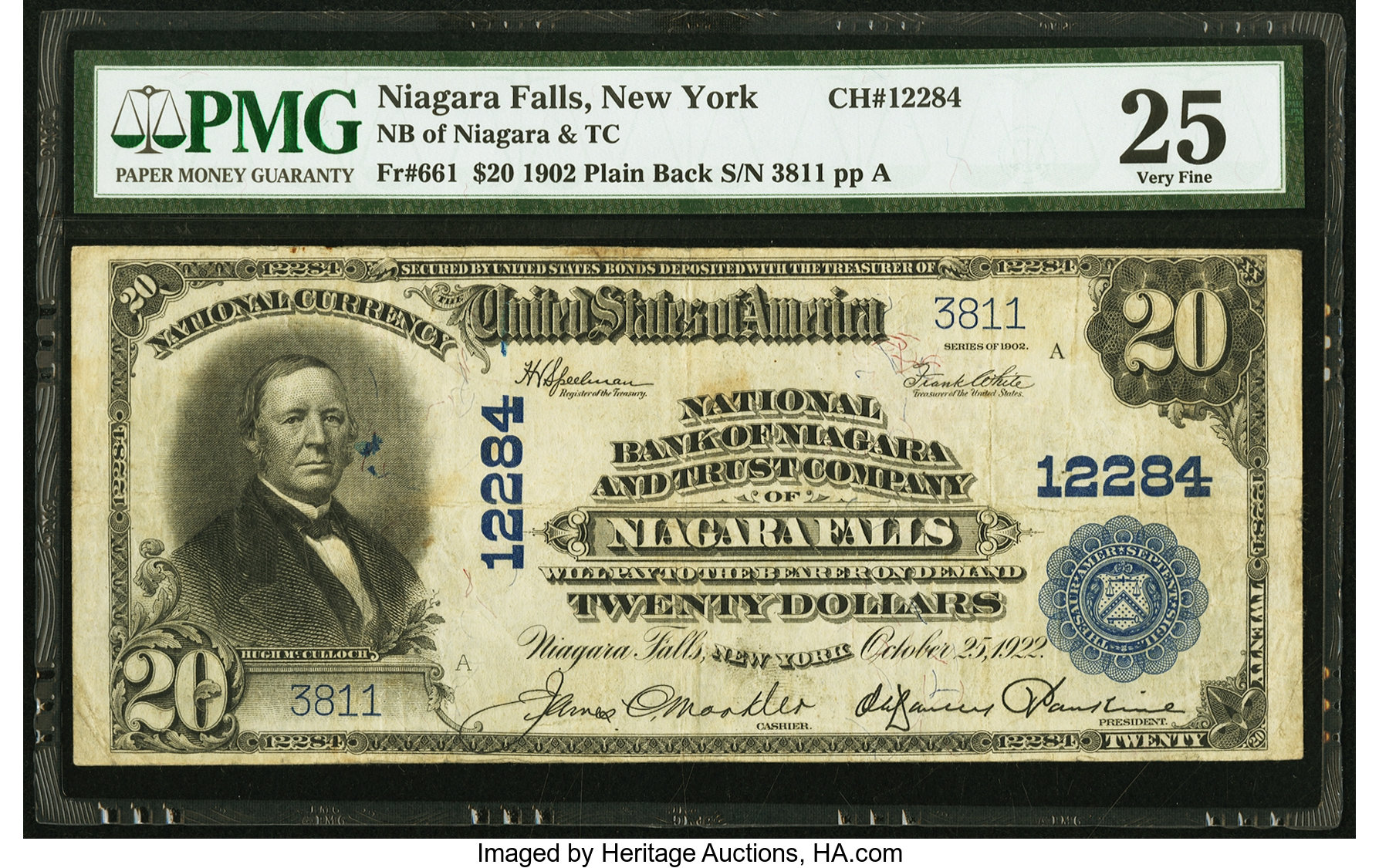sample image for 1902 3rd Charter Period $20  Plain Back 3rd Issue (Fr.# 661)