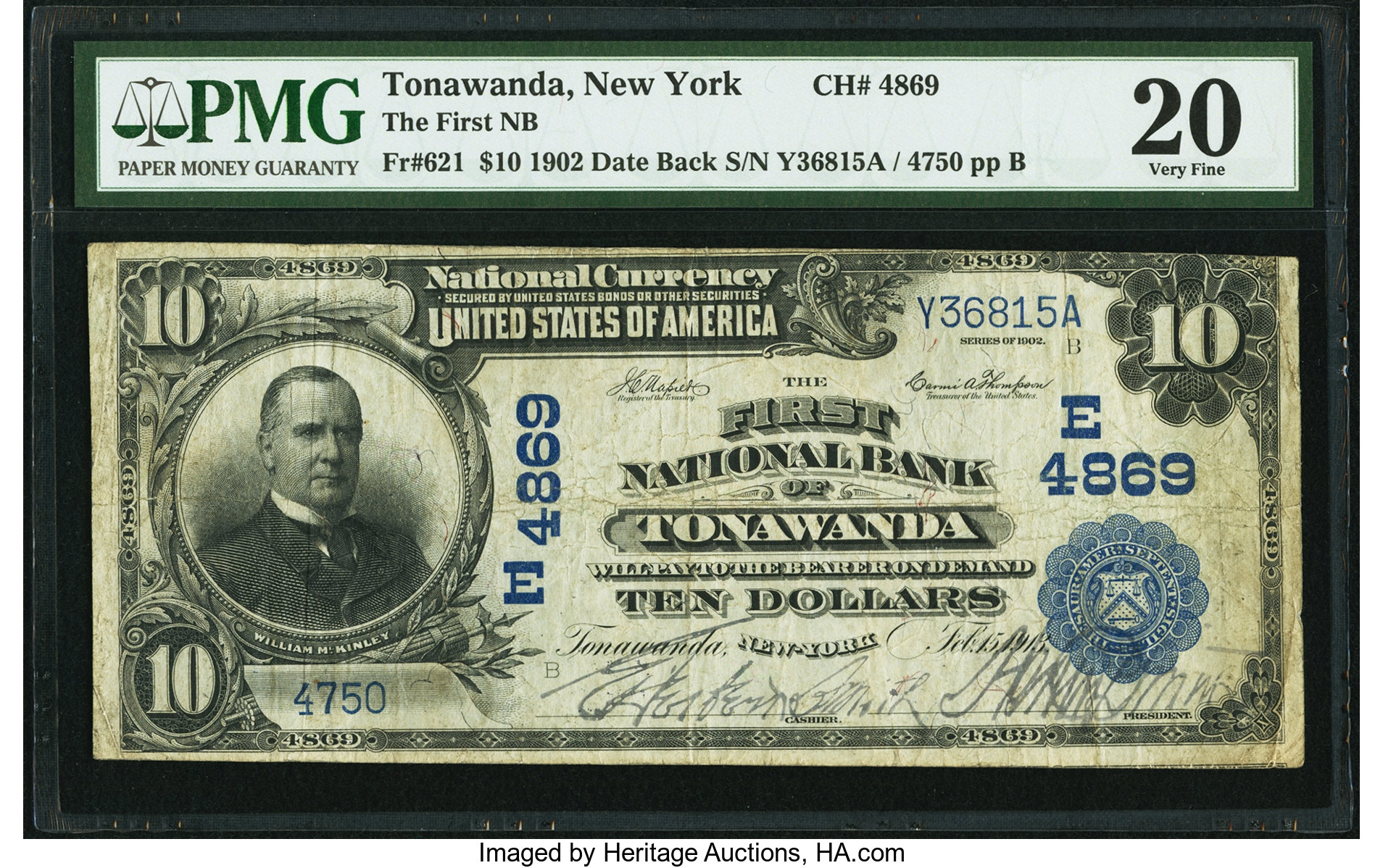 sample image for 1902 3rd Charter Period $10  Date Back 2nd Issue (Fr.# 621)