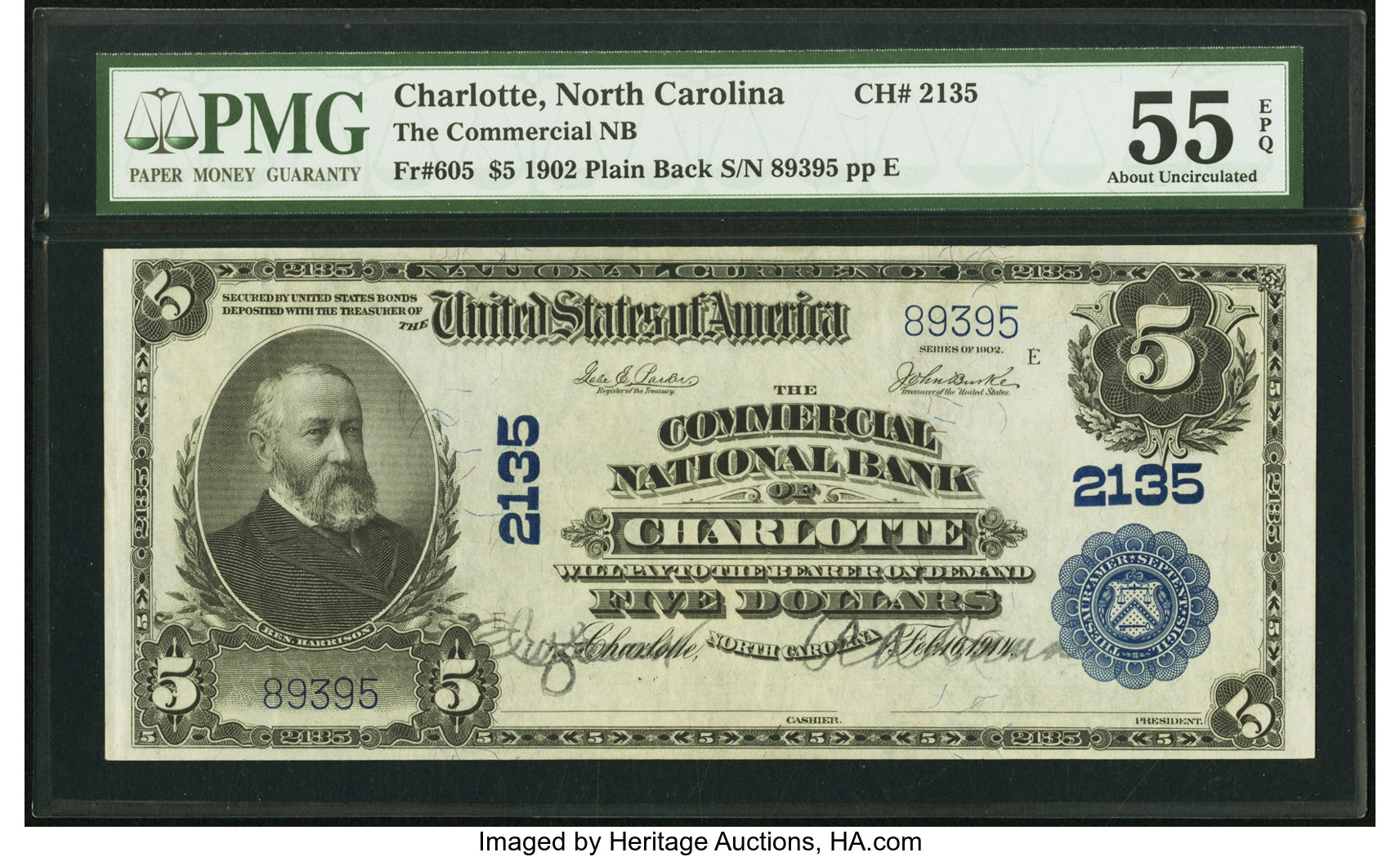 sample image for 1902 3rd Charter Period $5  Plain Back 3rd Issue (Fr.# 605)