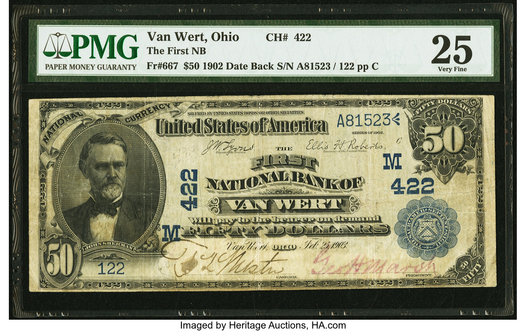 sample image for 1902 3rd Charter Period $50  Date Back 2nd Issue (Fr.# 667)